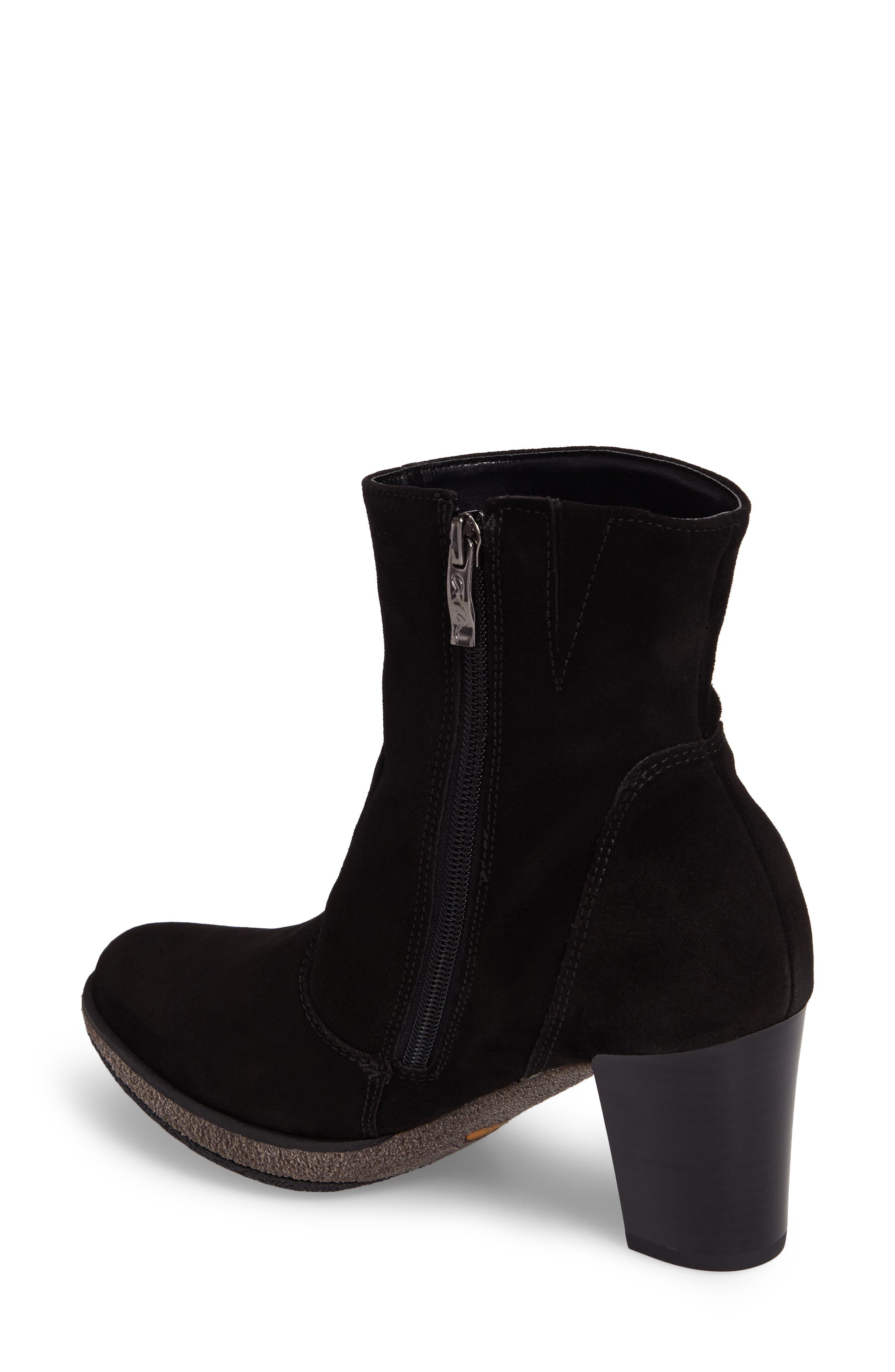Bristol Bootie,                             Alternate thumbnail 2, color,                             Black Leather