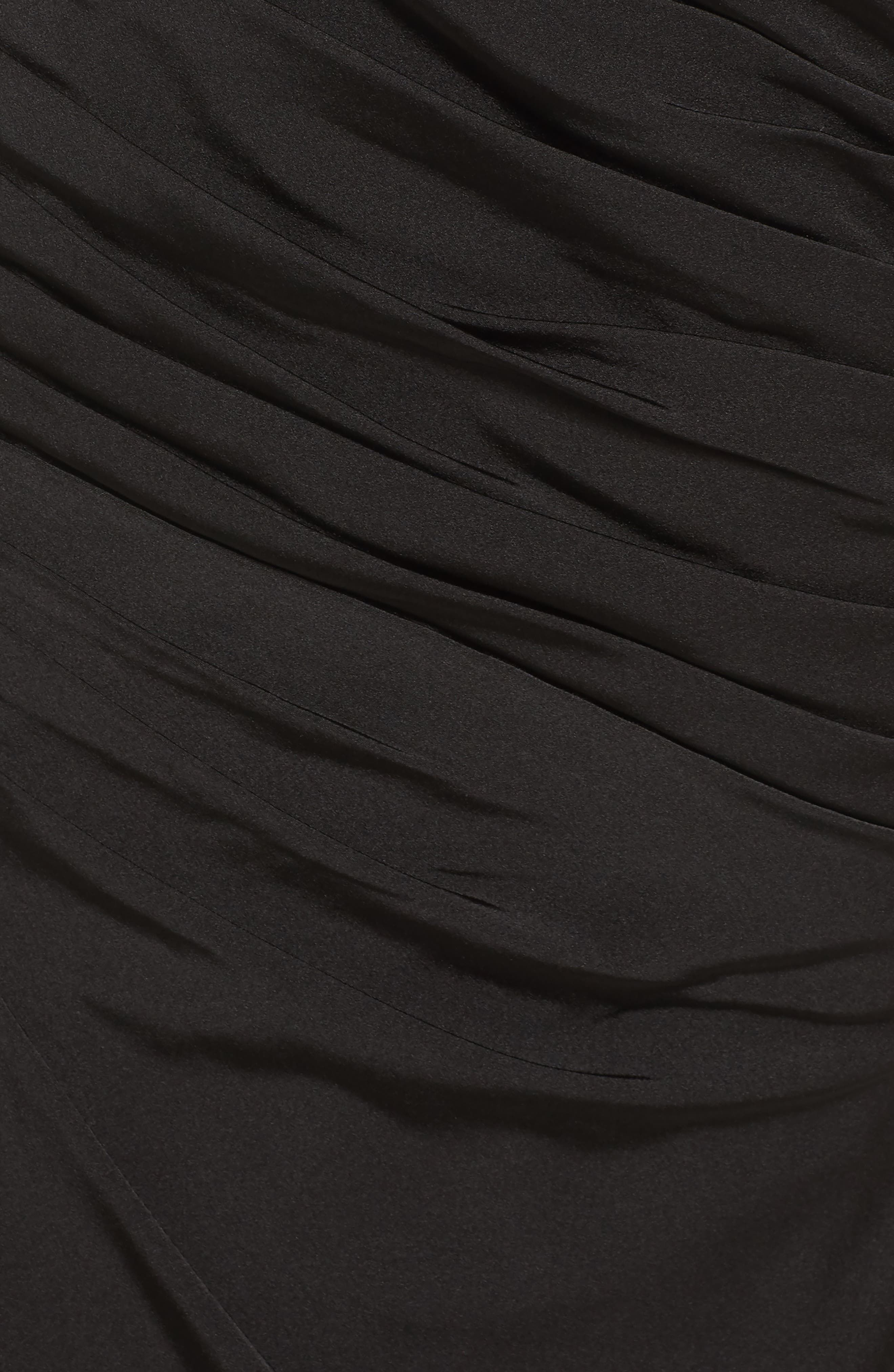 Sheer Sleeve Gown,                             Alternate thumbnail 5, color,                             Black