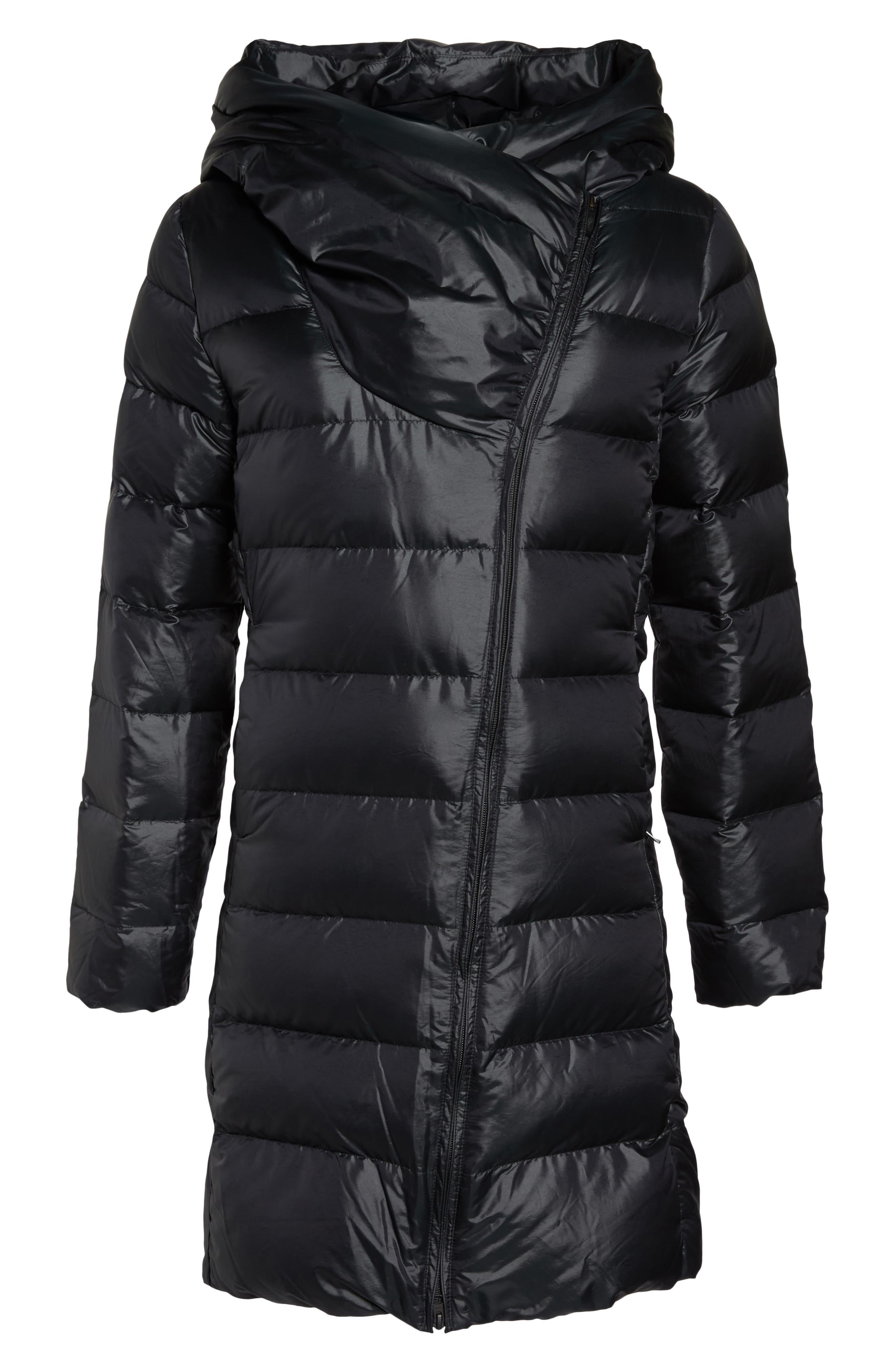 Sportswear Women's Down Parka,                             Alternate thumbnail 6, color,                             Black/ Black/ Black