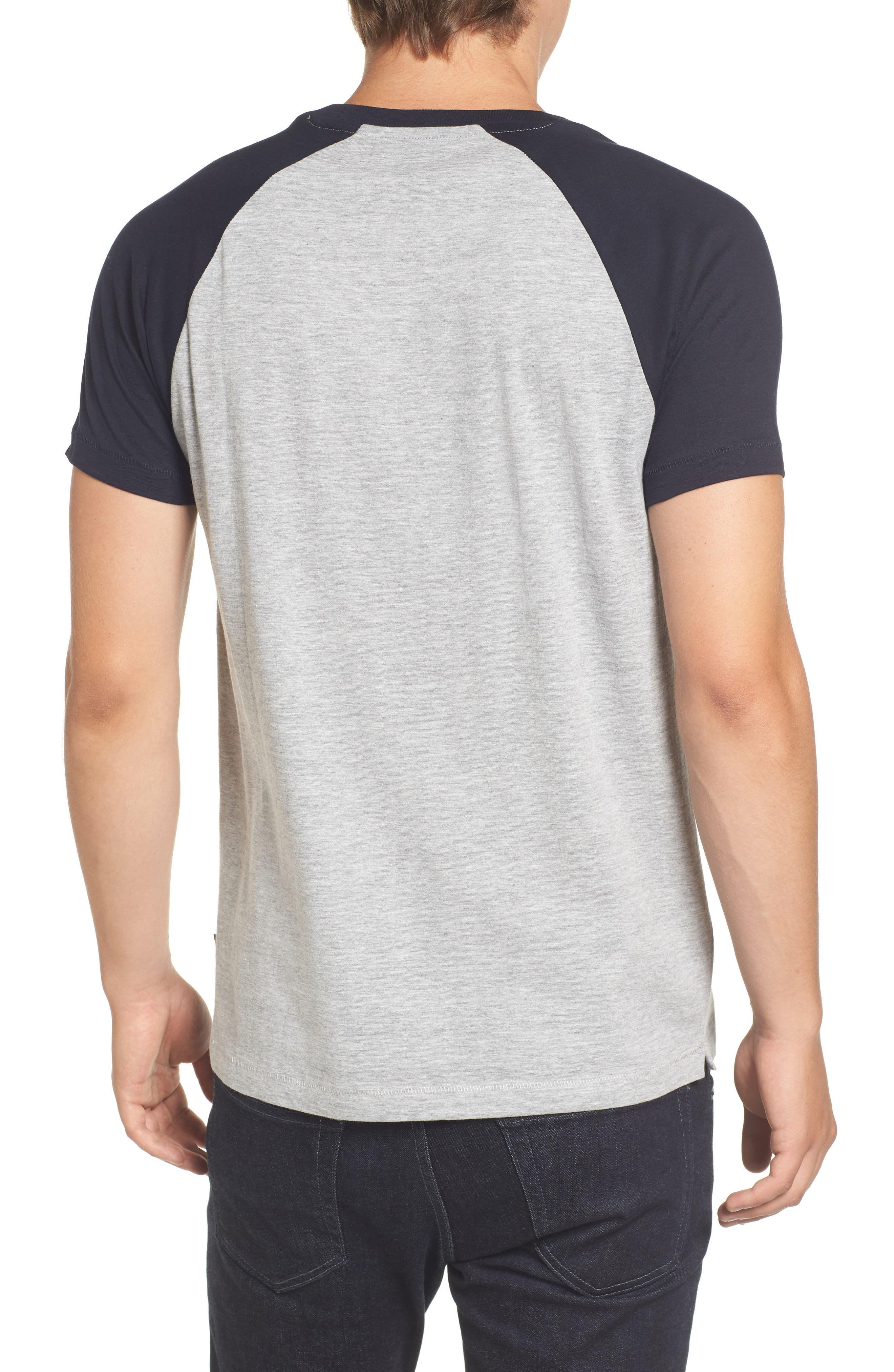 Alternate Image 2  - French Connection Raglan Short Sleeve T-Shirt