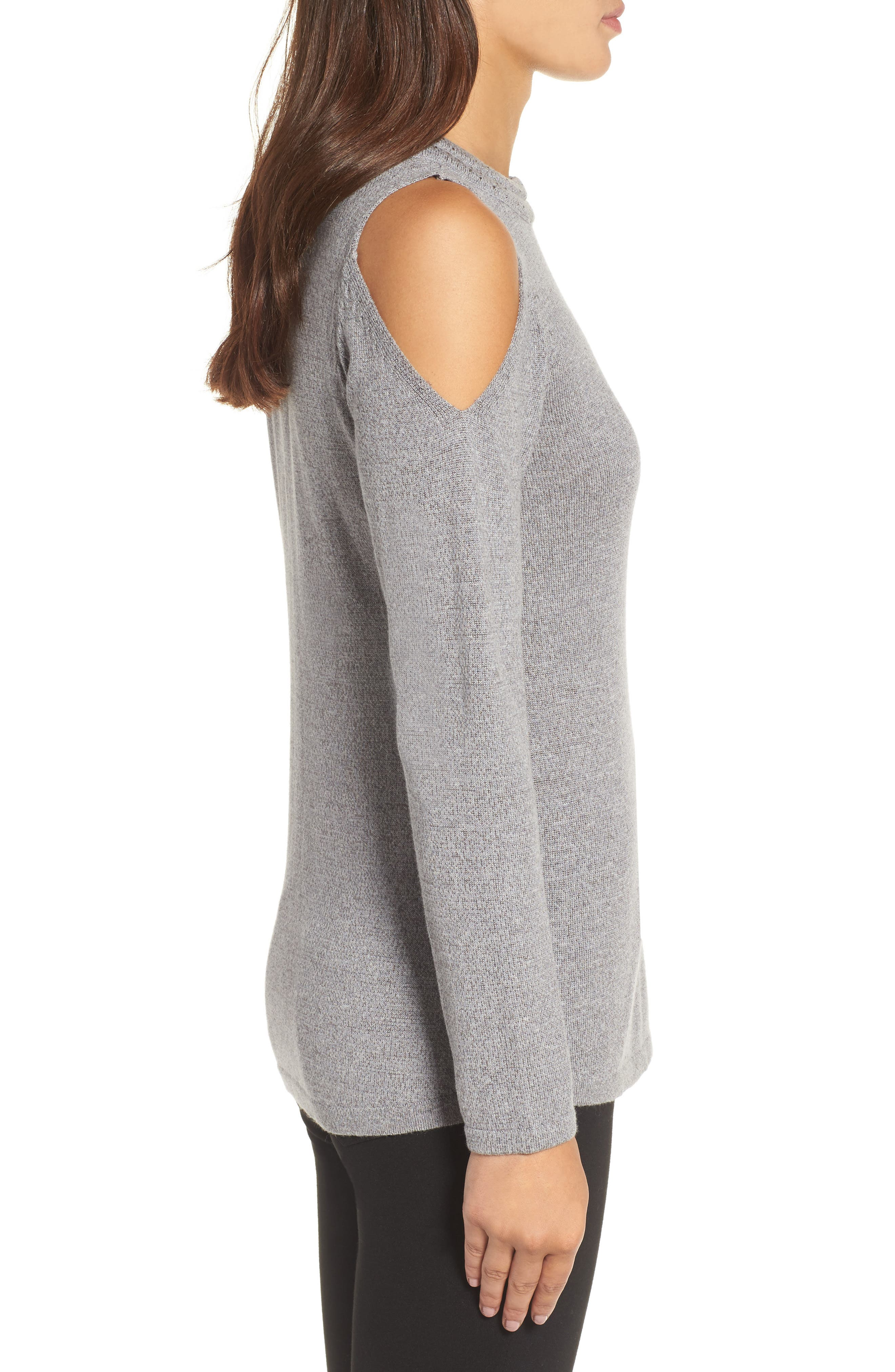 Alternate Image 3  - NIC+ZOE Jewel Neck Cold Shoulder Top (Regular & Petite)