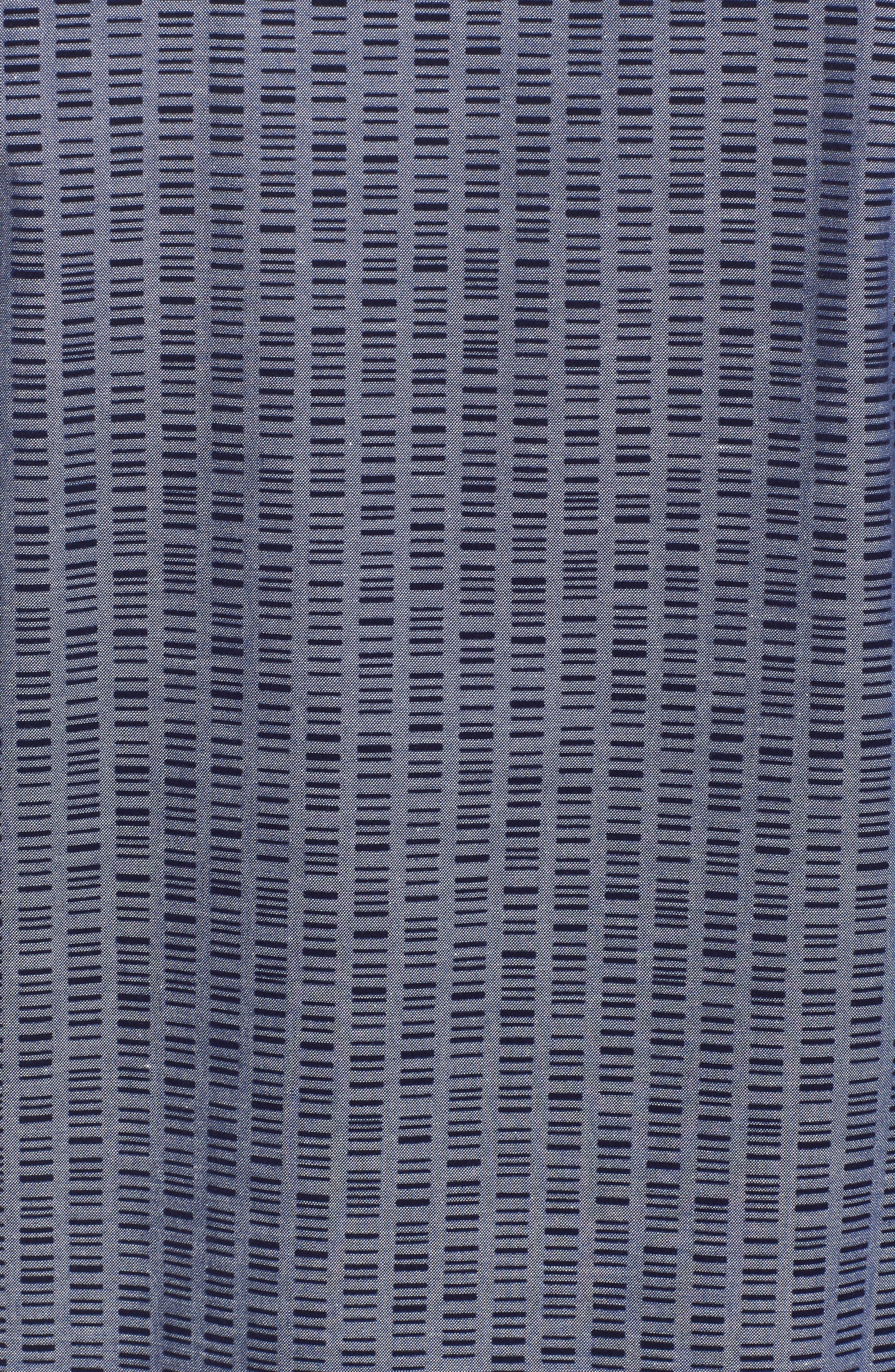 Alternate Image 5  - Bugatchi Slim Fit Flock Print Sport Shirt
