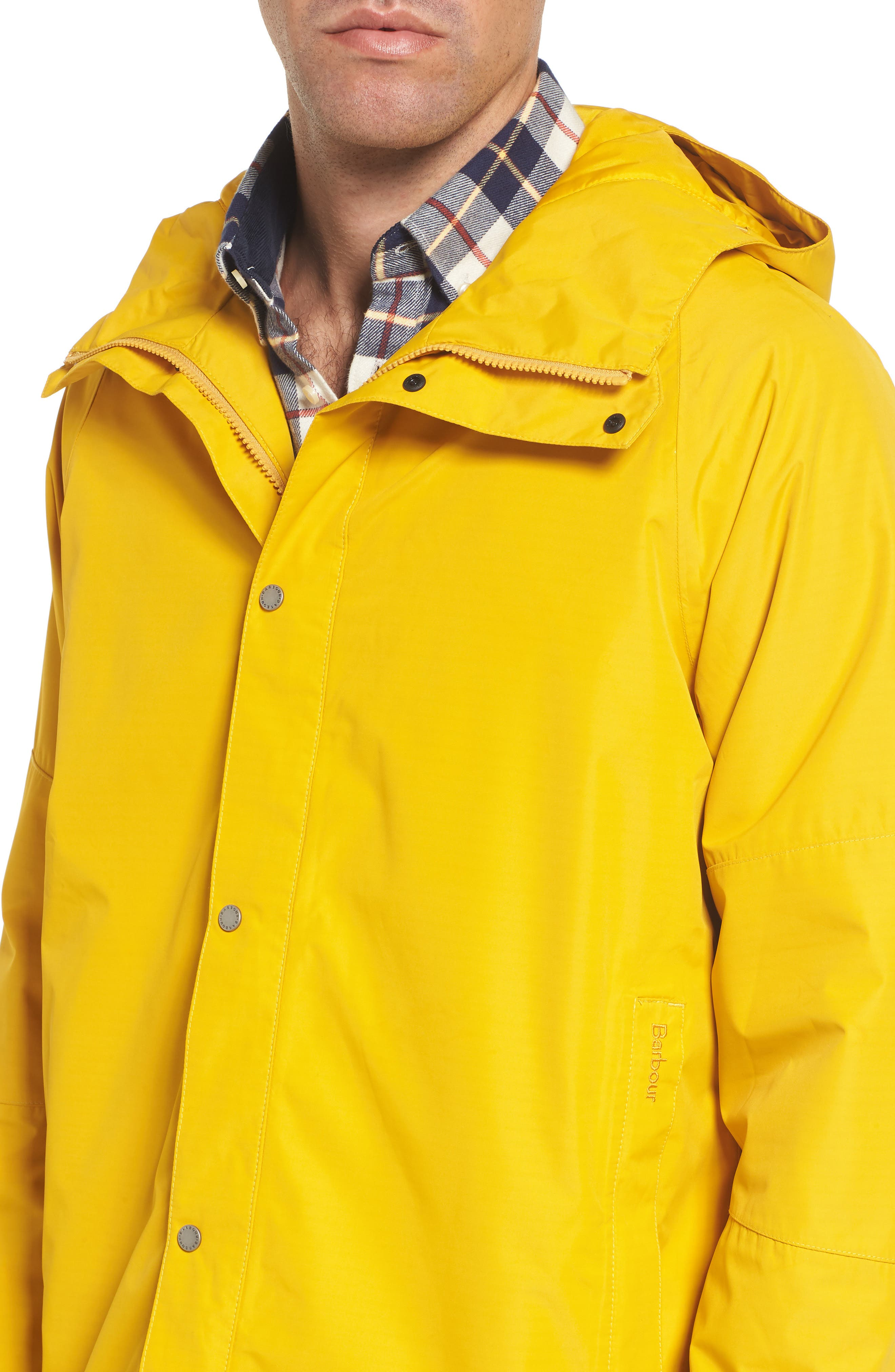 Rydal Waterproof Hooded Jacket,                             Alternate thumbnail 4, color,                             Canary Yellow