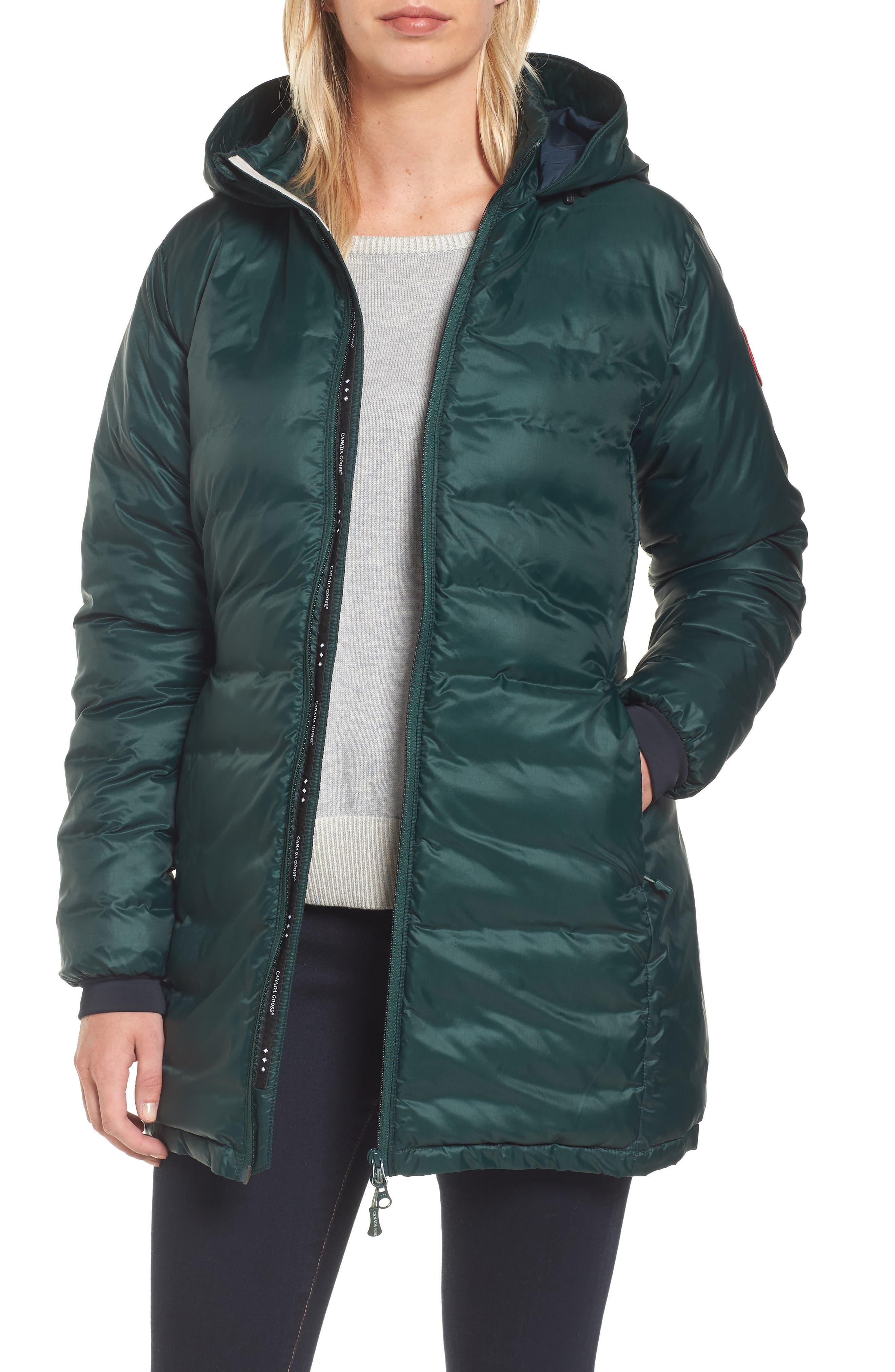 Alternate Image 1 Selected - Canada Goose 'Camp' Slim Fit Hooded Packable Down Jacket