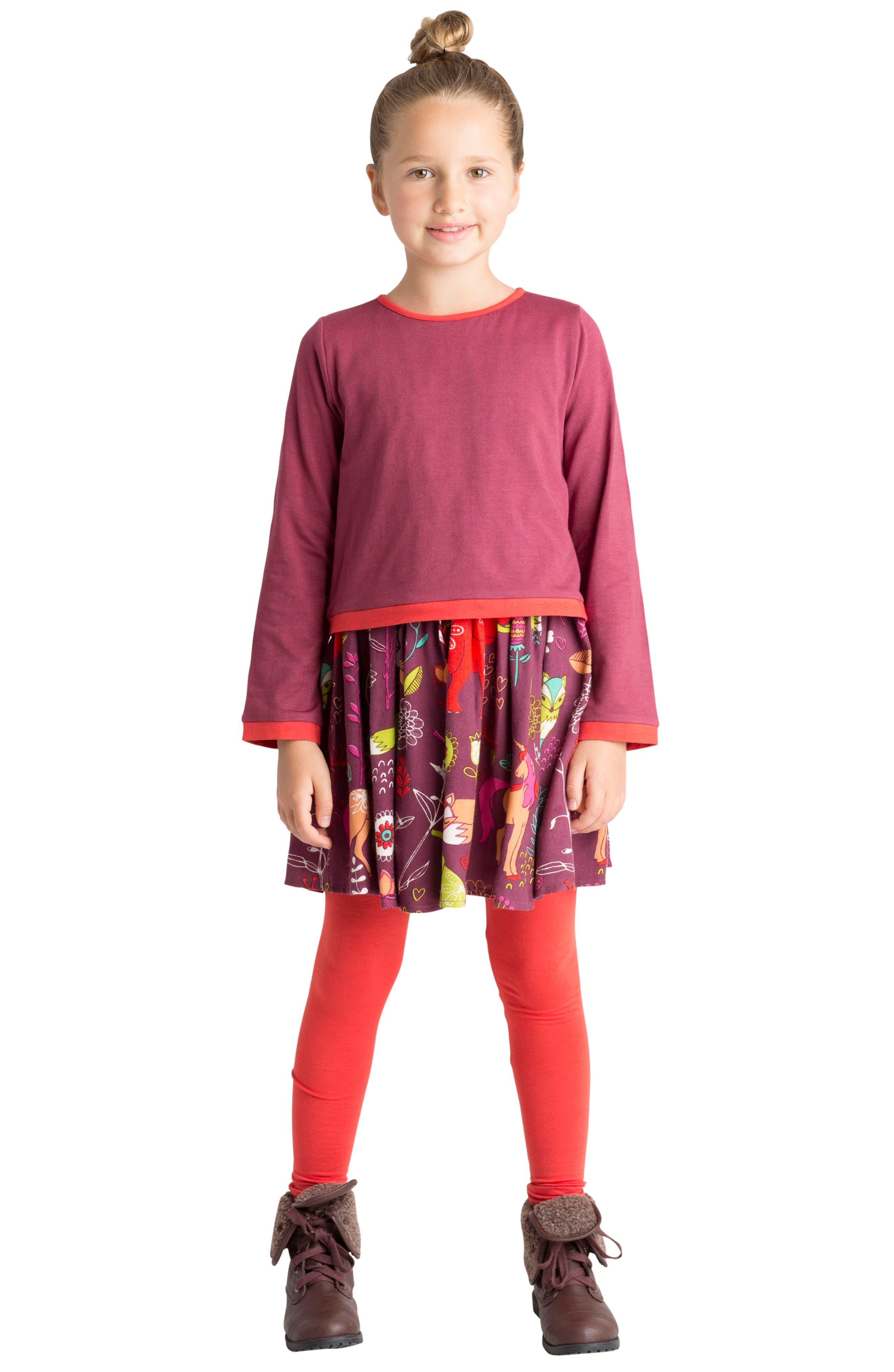 Forest Hills Dress,                             Alternate thumbnail 3, color,                             Burgundy