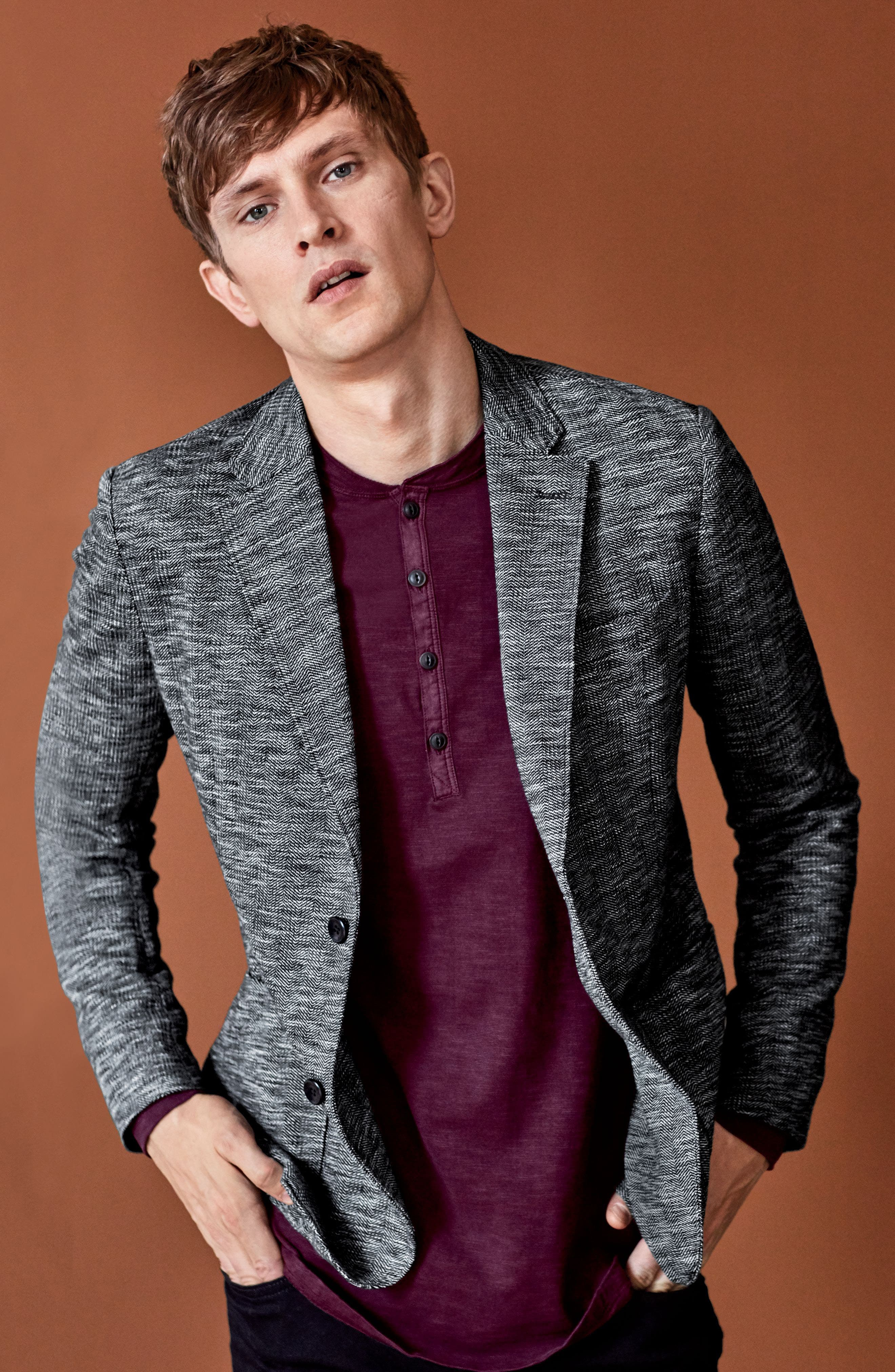 Alternate Image 7  - Good Man Brand Slim Fit Vintage Herringbone Knit Blazer