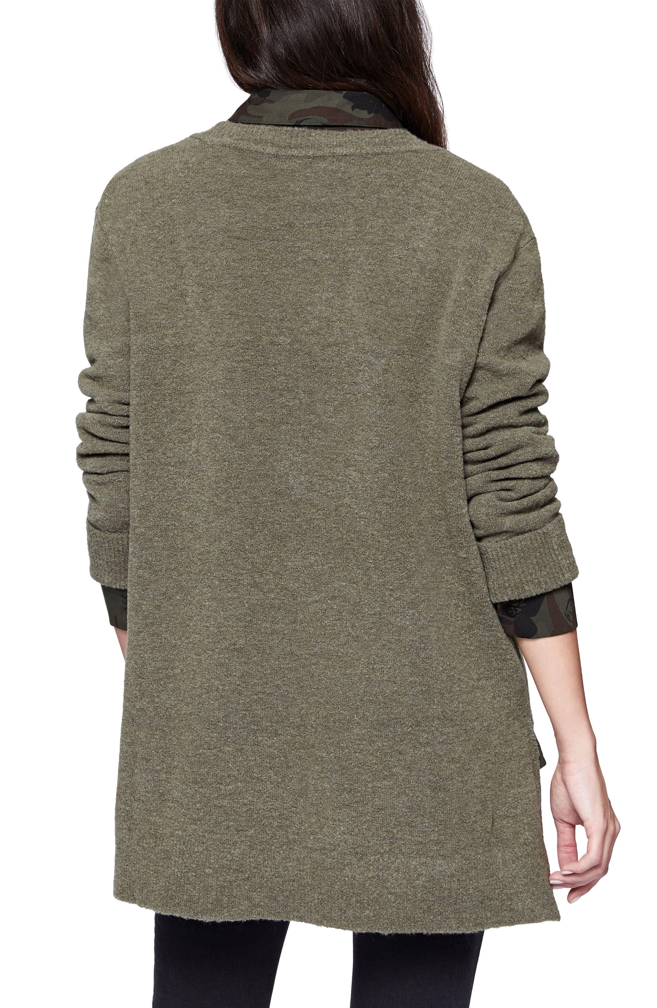 Santuary Delancey V-Neck Sweater,                             Alternate thumbnail 2, color,                             Fatigue