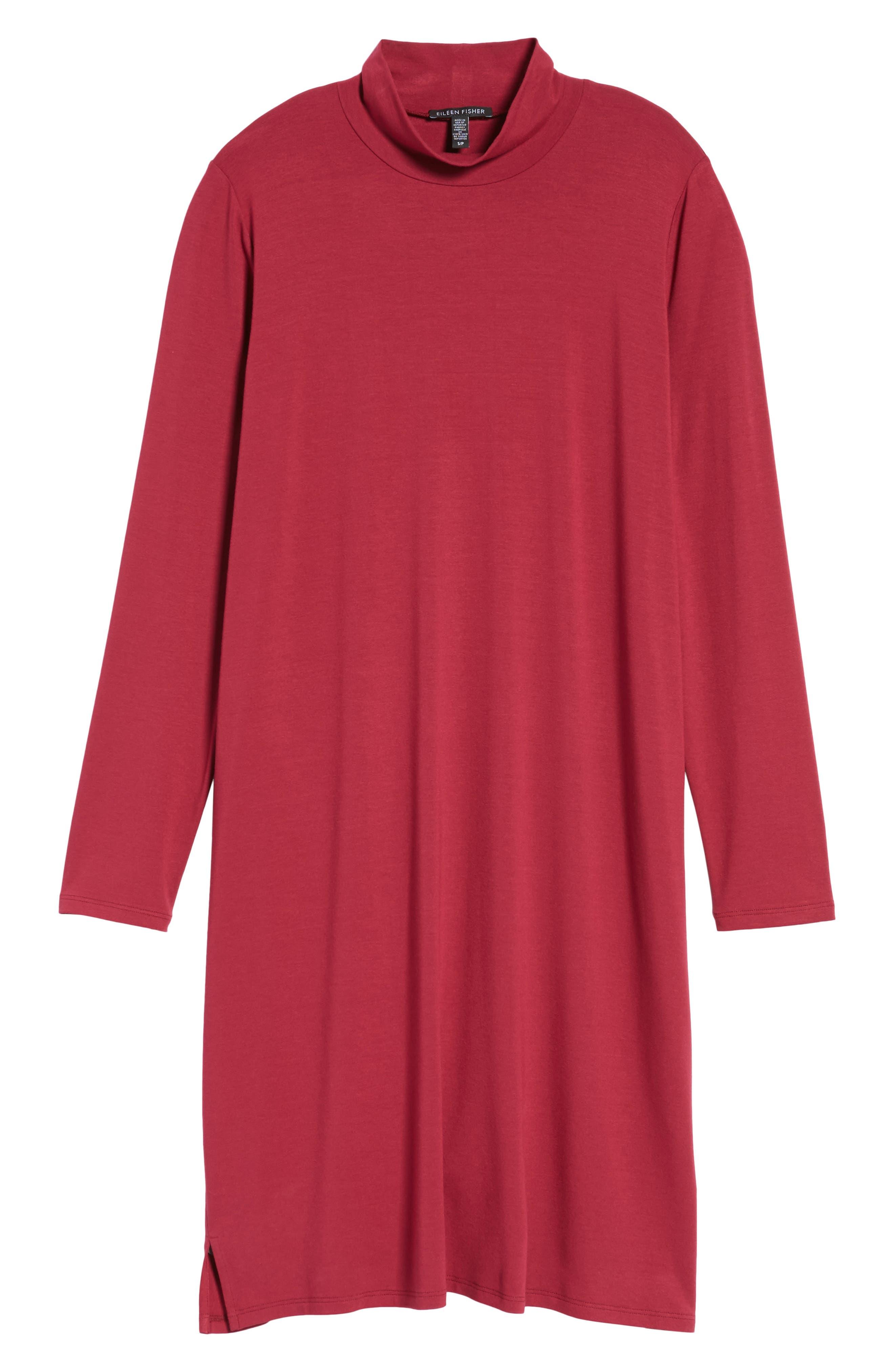 Alternate Image 6  - Eileen Fisher Mock Neck Shift Dress