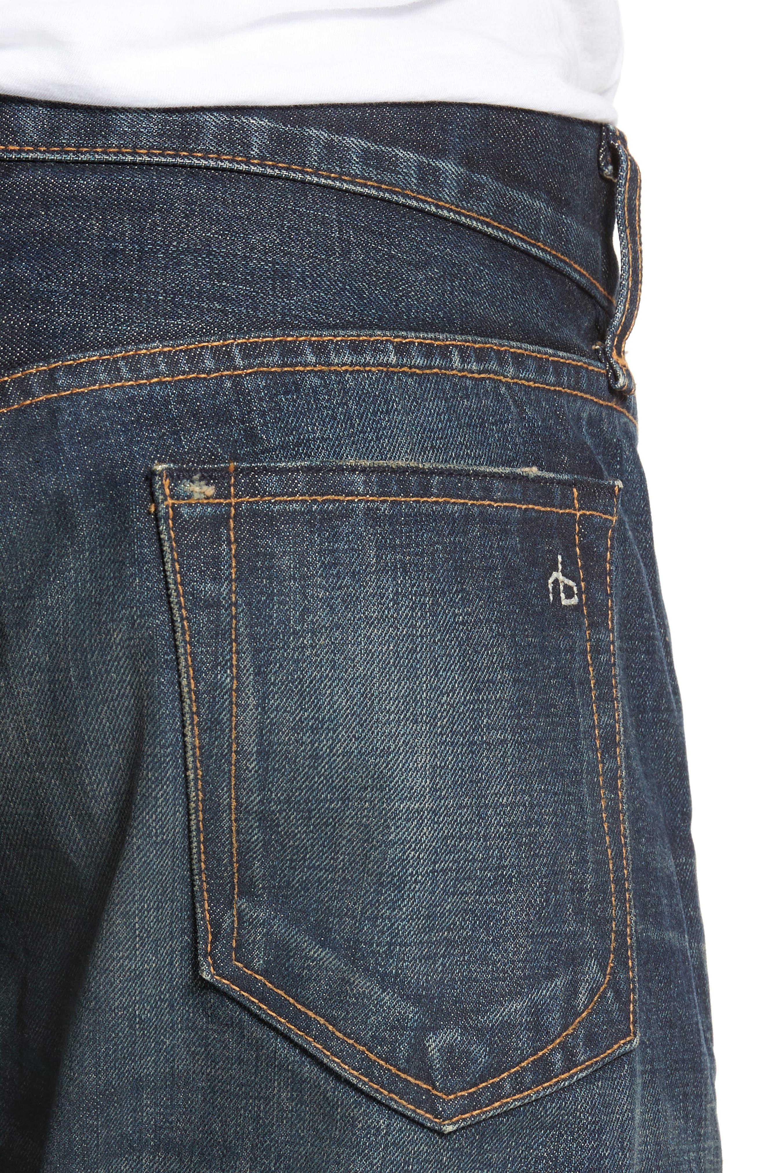 Alternate Image 4  - rag & bone Fit 2 Slim Fit Jeans (Zeitgeist)