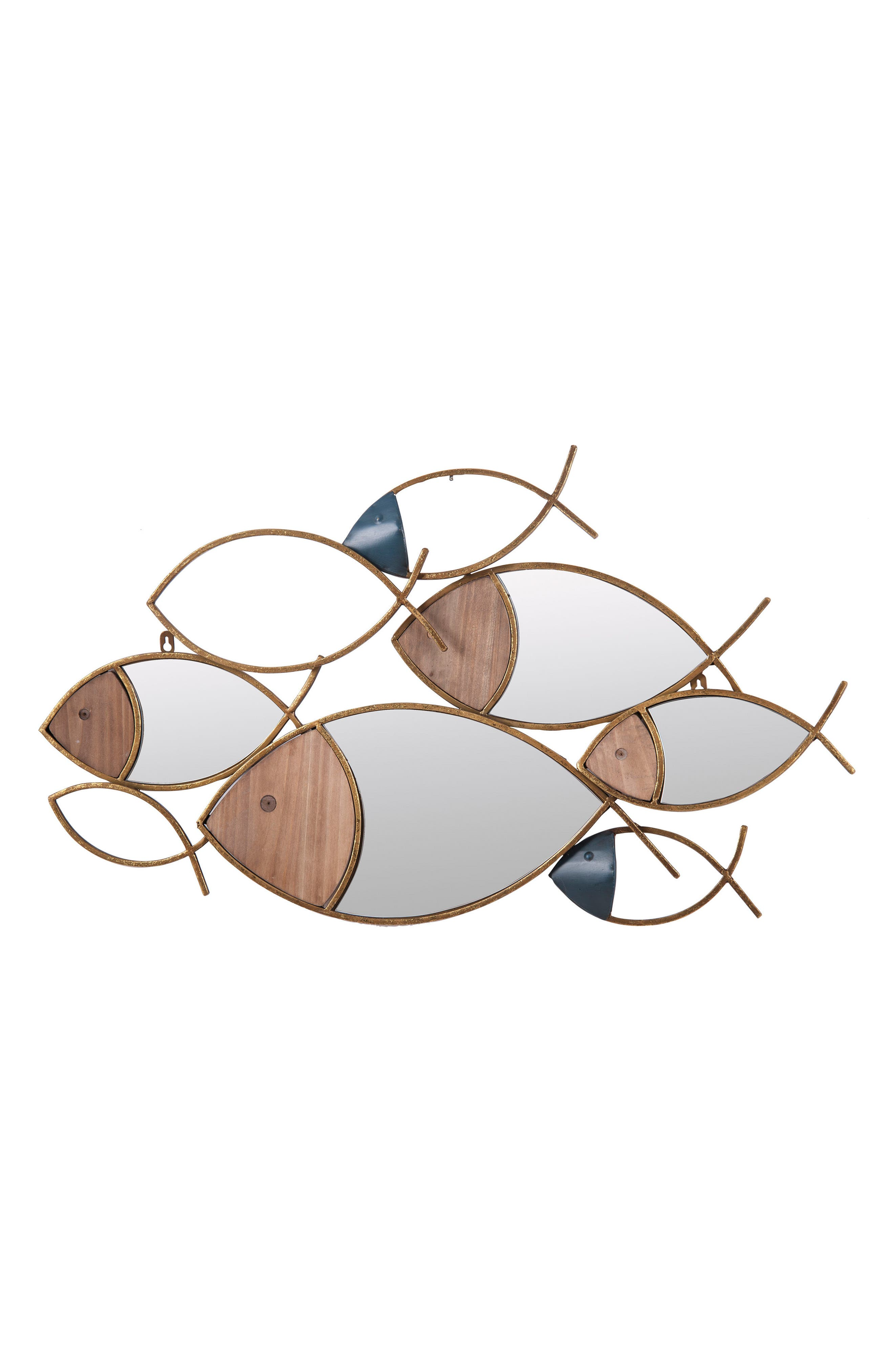 School of Fish Wall Art,                         Main,                         color, Metal/ Wood/ Glass