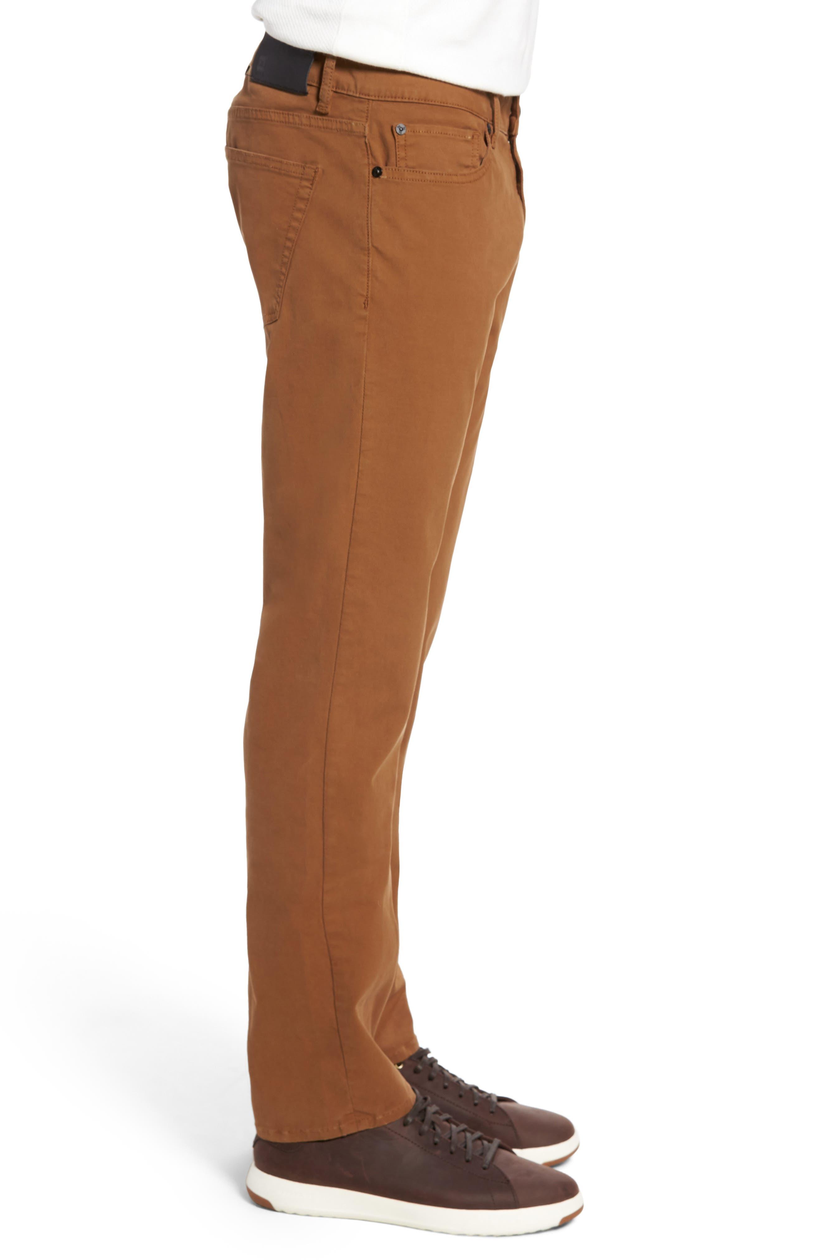 Nick Slim Fit Flat Front Pants,                             Alternate thumbnail 3, color,                             Sienna