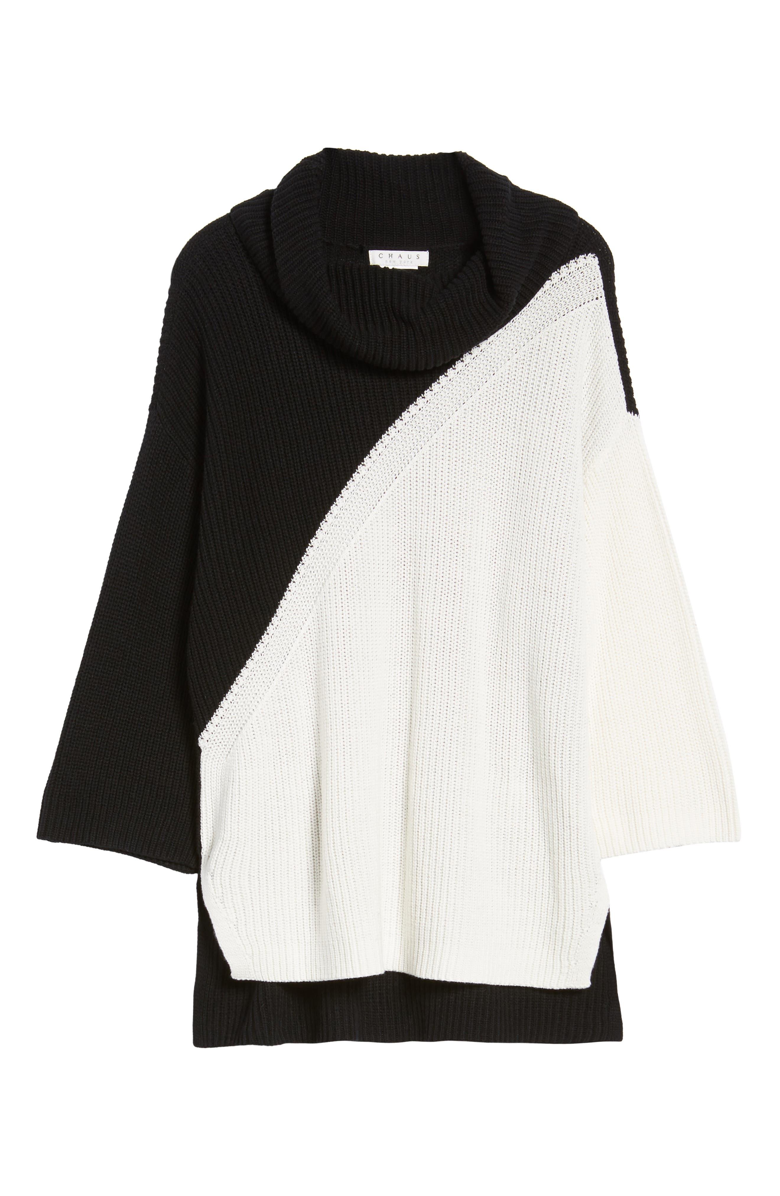 Alternate Image 6  - Chaus Colorblock Cowl Neck Sweater