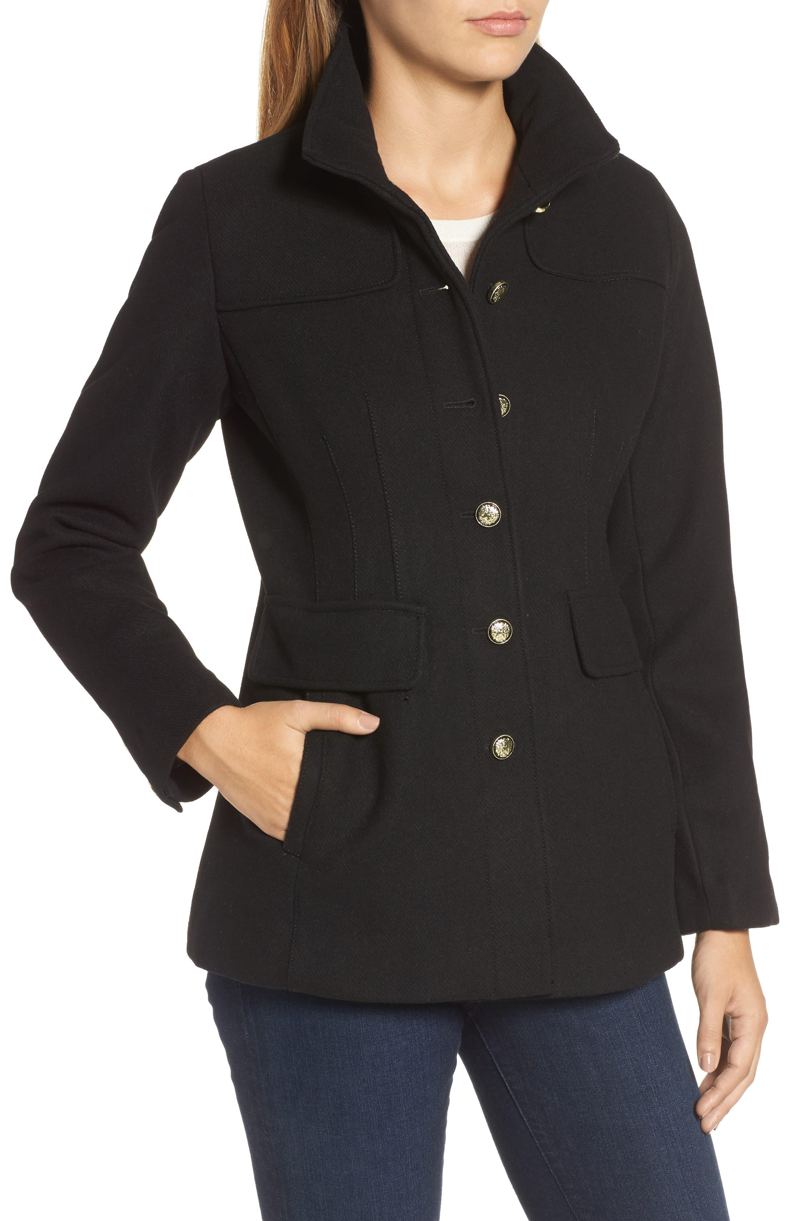 Alternate Image 4  - Vince Camuto Wool Blend Coat