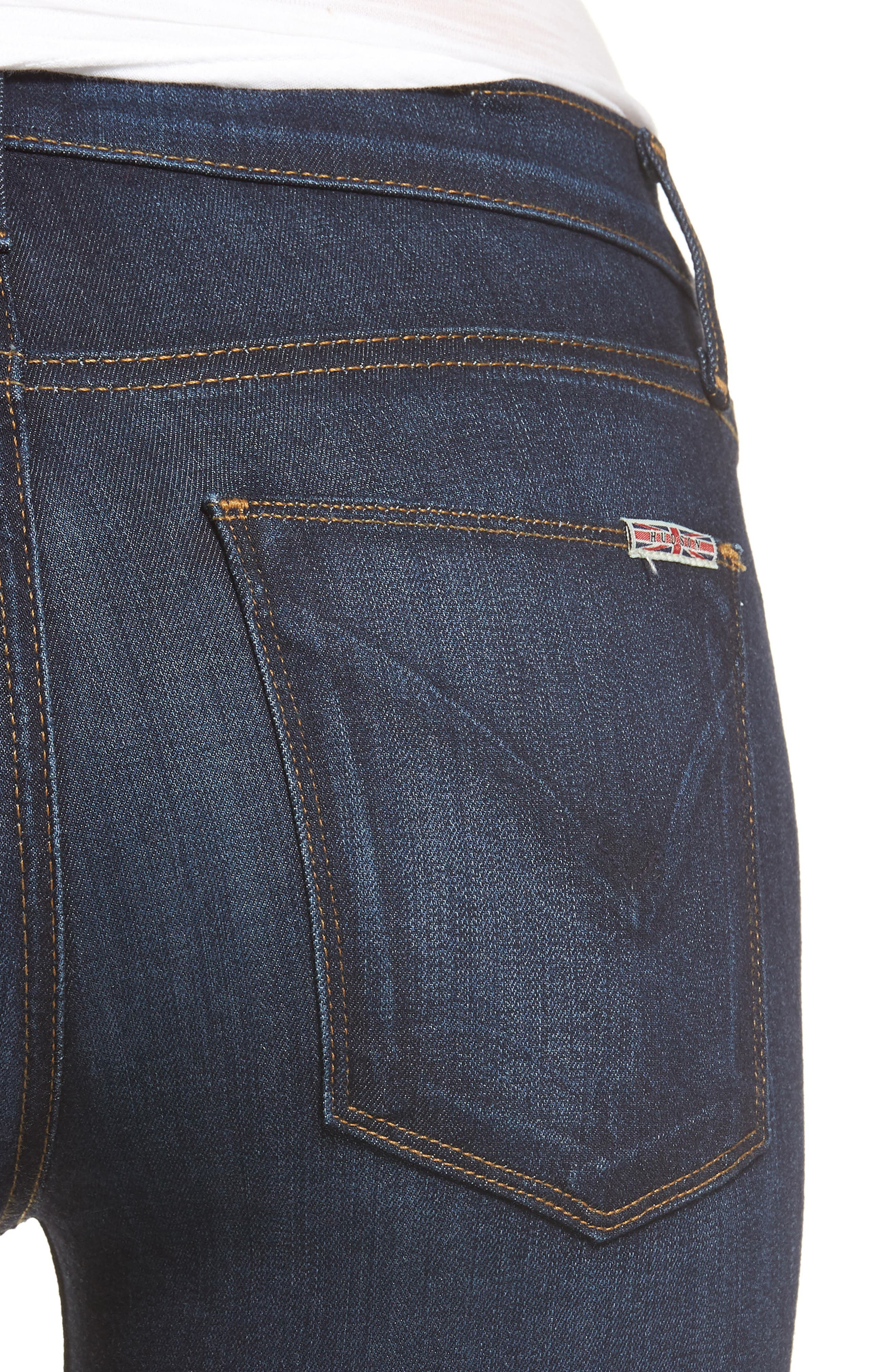 Alternate Image 4  - Hudson Jeans 'Nico' Ankle Super Skinny Jeans (Electrify)