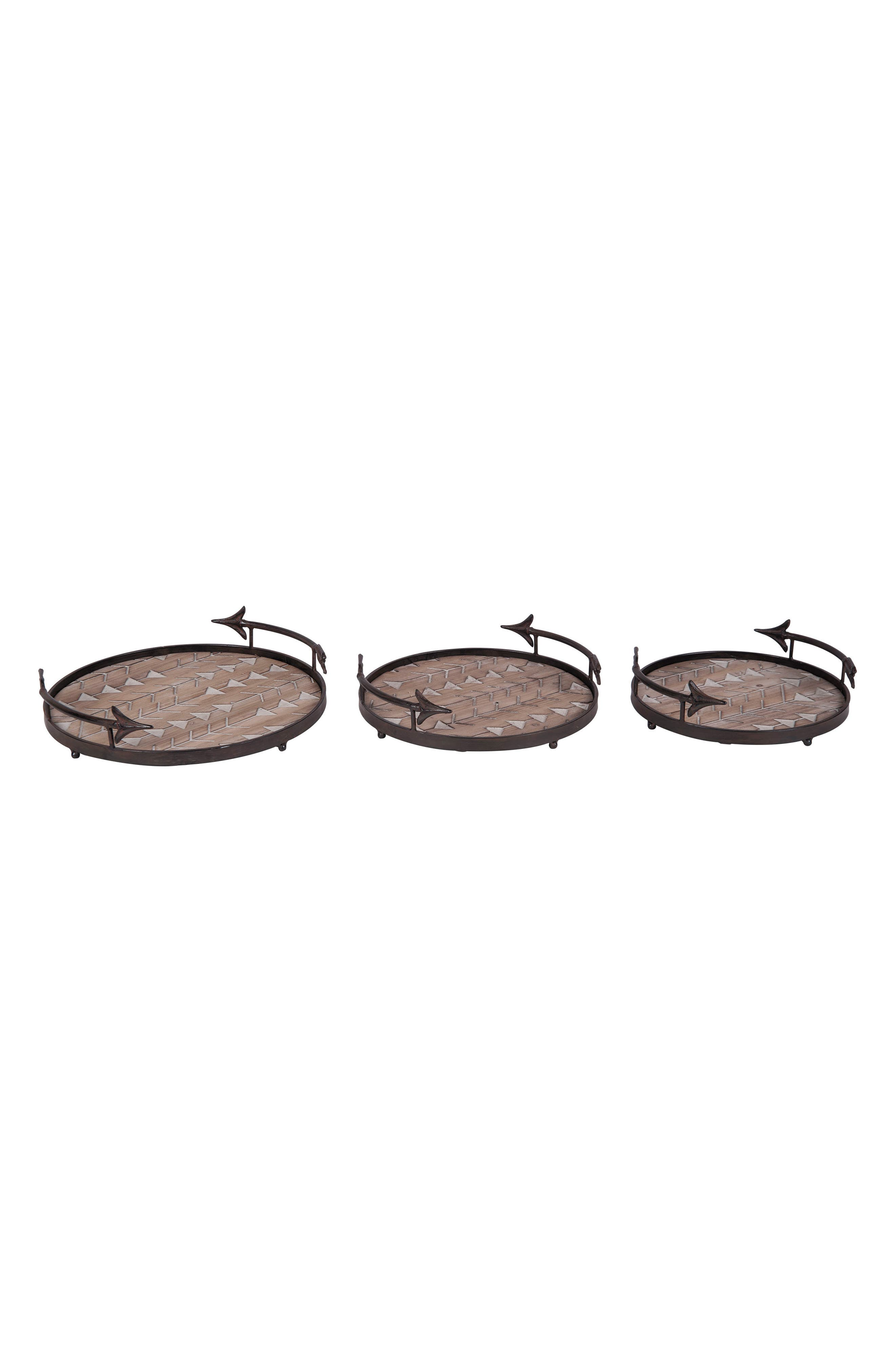 Foreside Arrow Set of 3 Nesting Trays