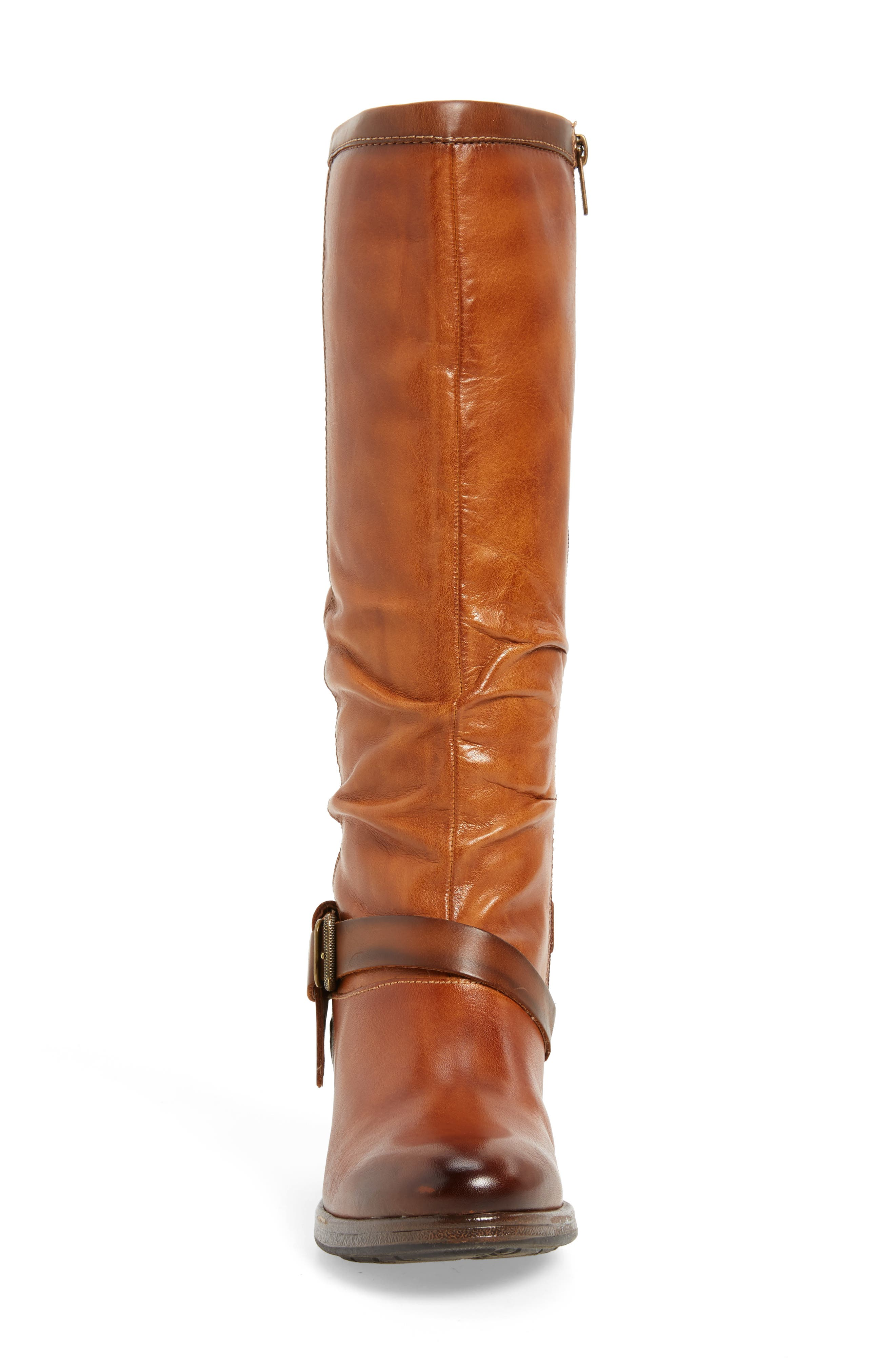 Ordino Knee High Boot,                             Alternate thumbnail 4, color,                             Brandy Cuero Leather