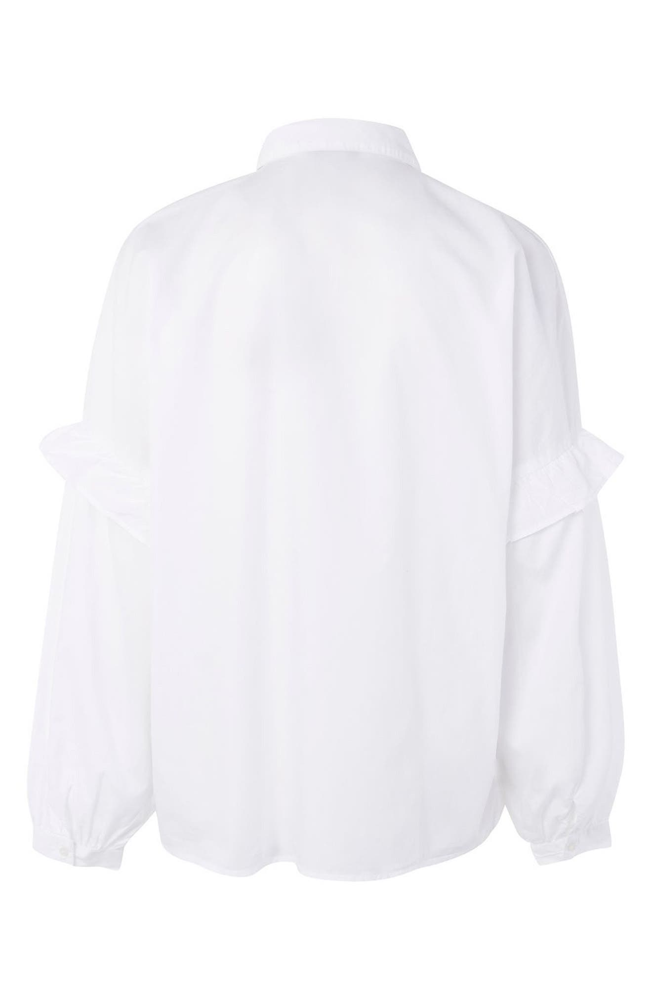 Alternate Image 2  - Topshop Forest Floral Embroidered Maternity Shirt