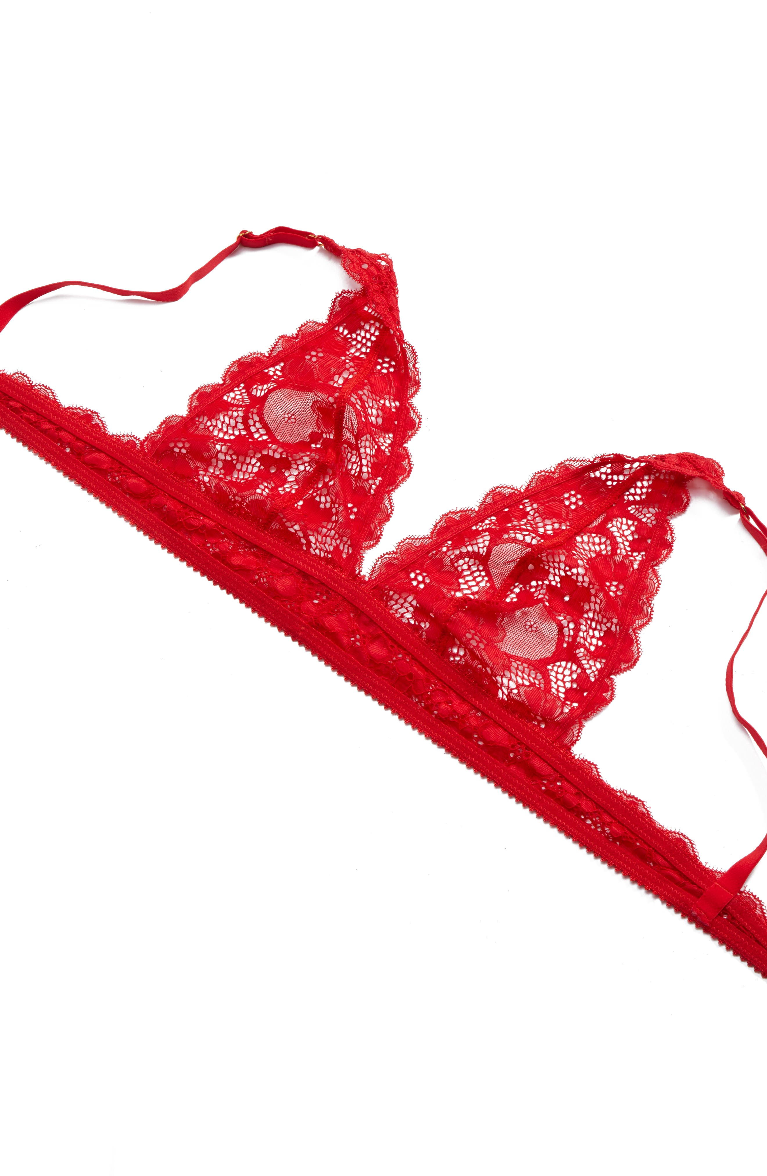 Alternate Image 5  - Honeydew Intimates Camellia Lace Triangle Bralette
