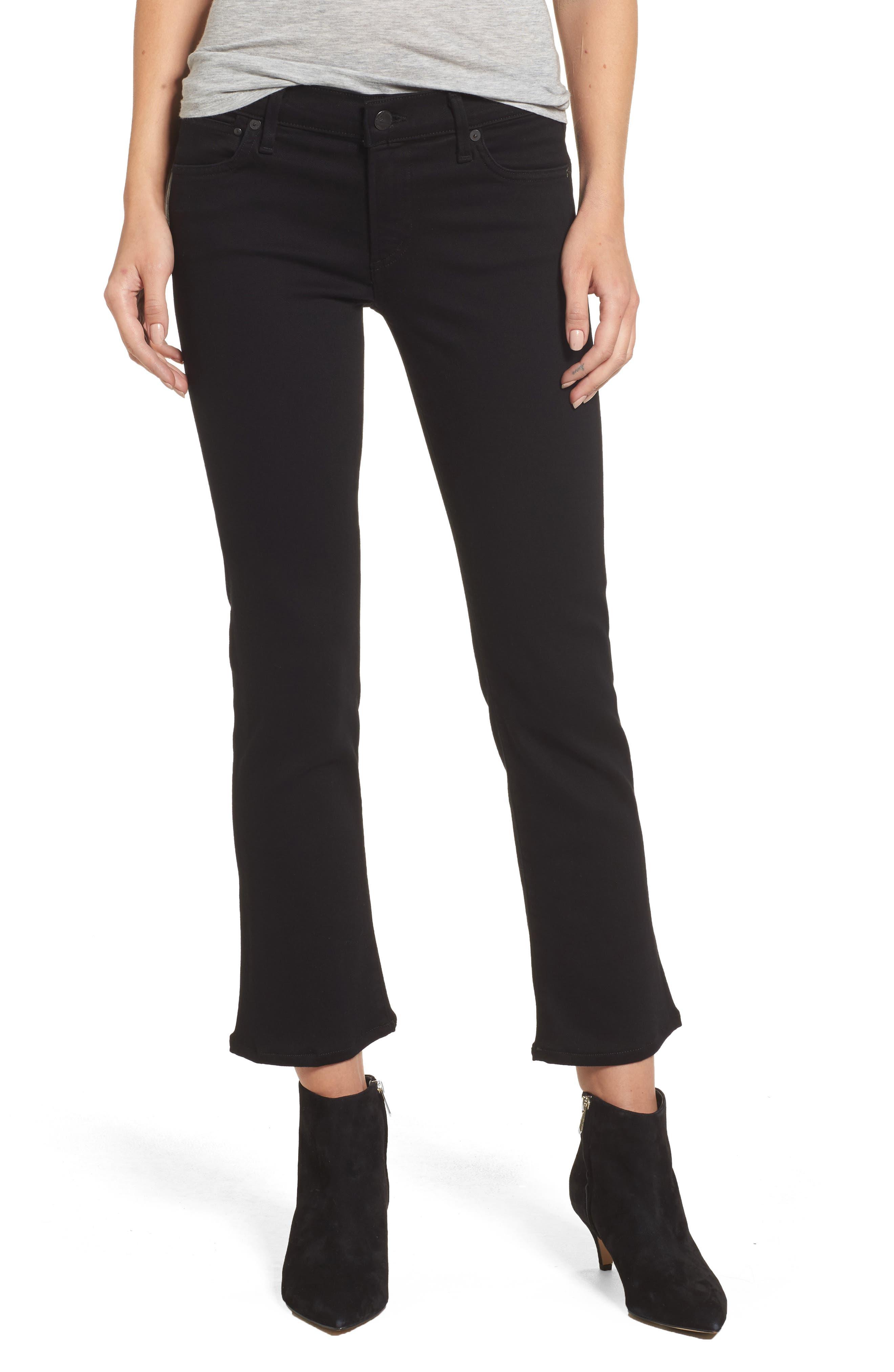 Emmanuelle Crop Slim Bootcut Jeans,                             Main thumbnail 1, color,                             Tuxedo