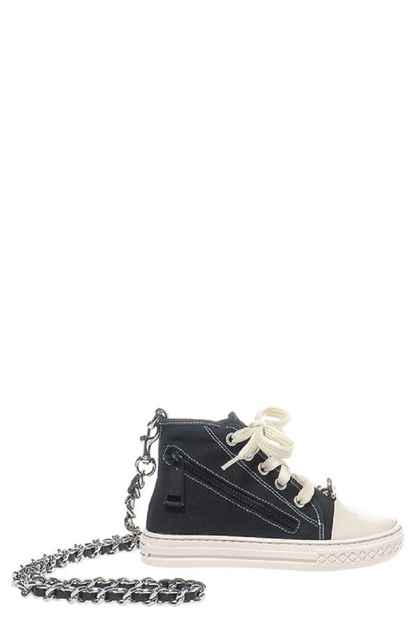 Sneaker Shoulder Bag,                         Main,                         color, Black