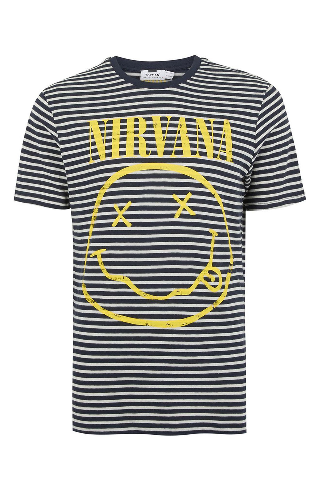 Nirvana Stripe T-Shirt,                             Alternate thumbnail 4, color,                             Dark Blue Multi