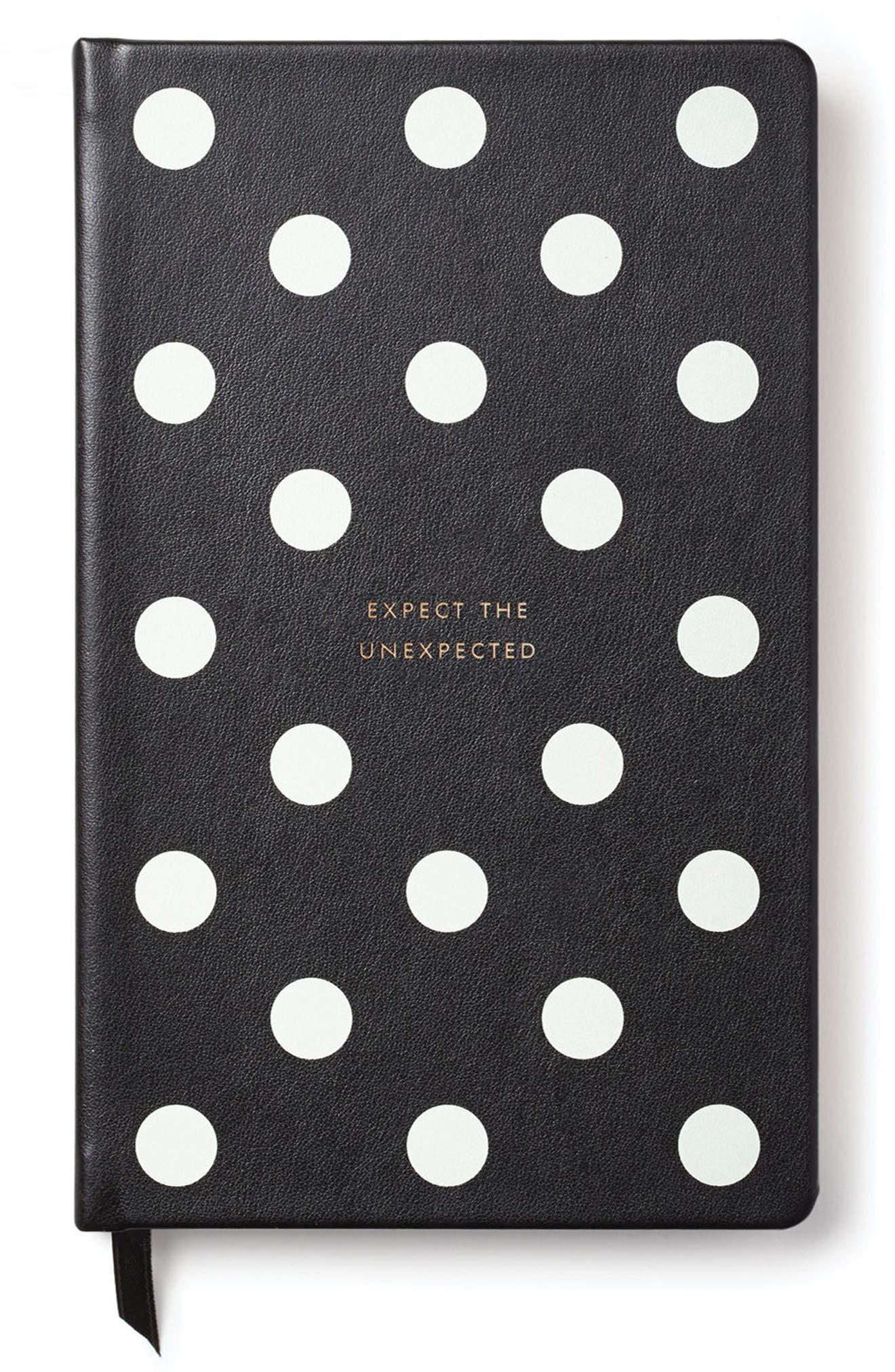 deco dots pregnancy journal,                         Main,                         color, Black