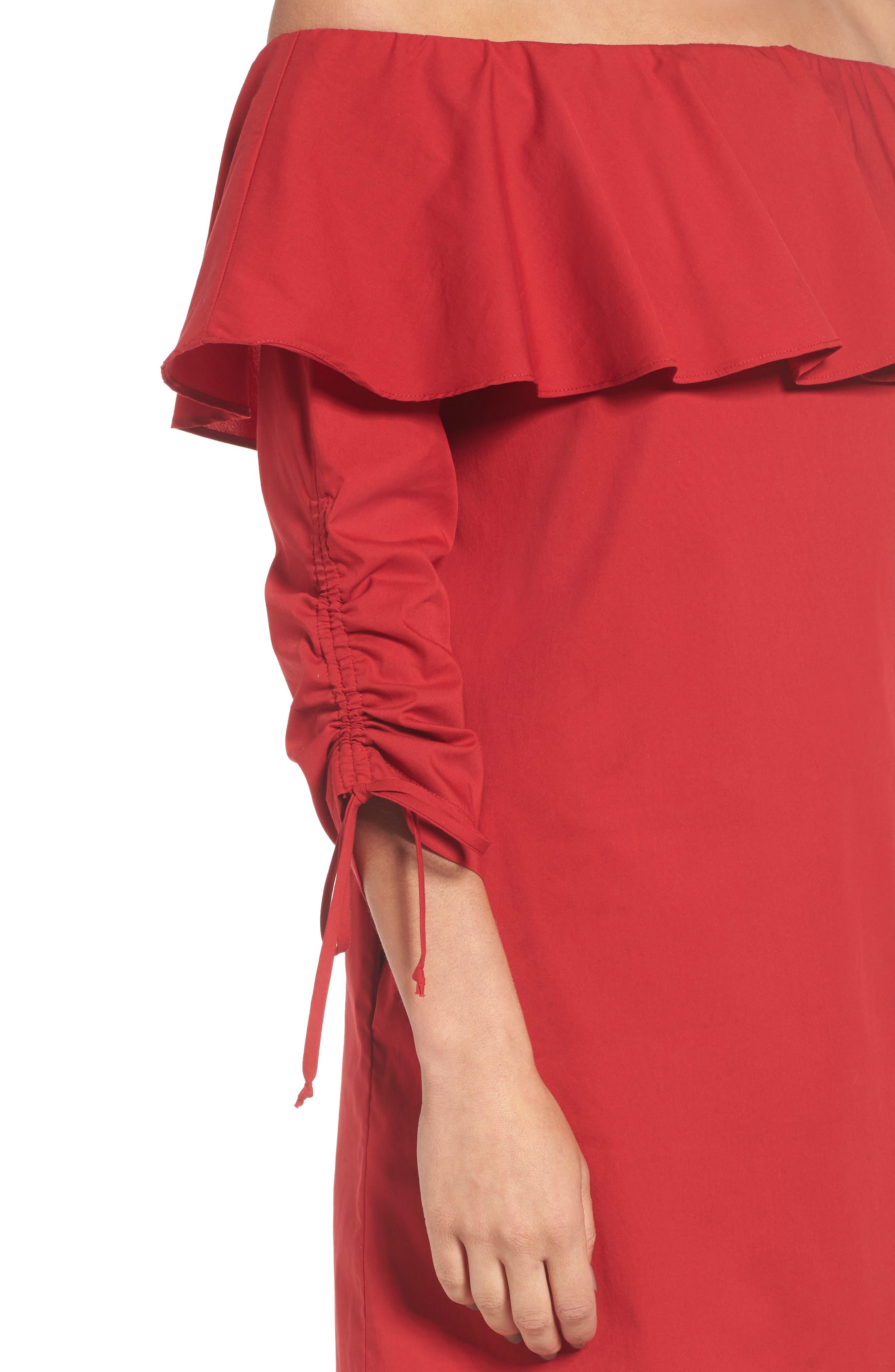 Alternate Image 4  - Socialite Cinch Sleeve Off the Shoulder Dress
