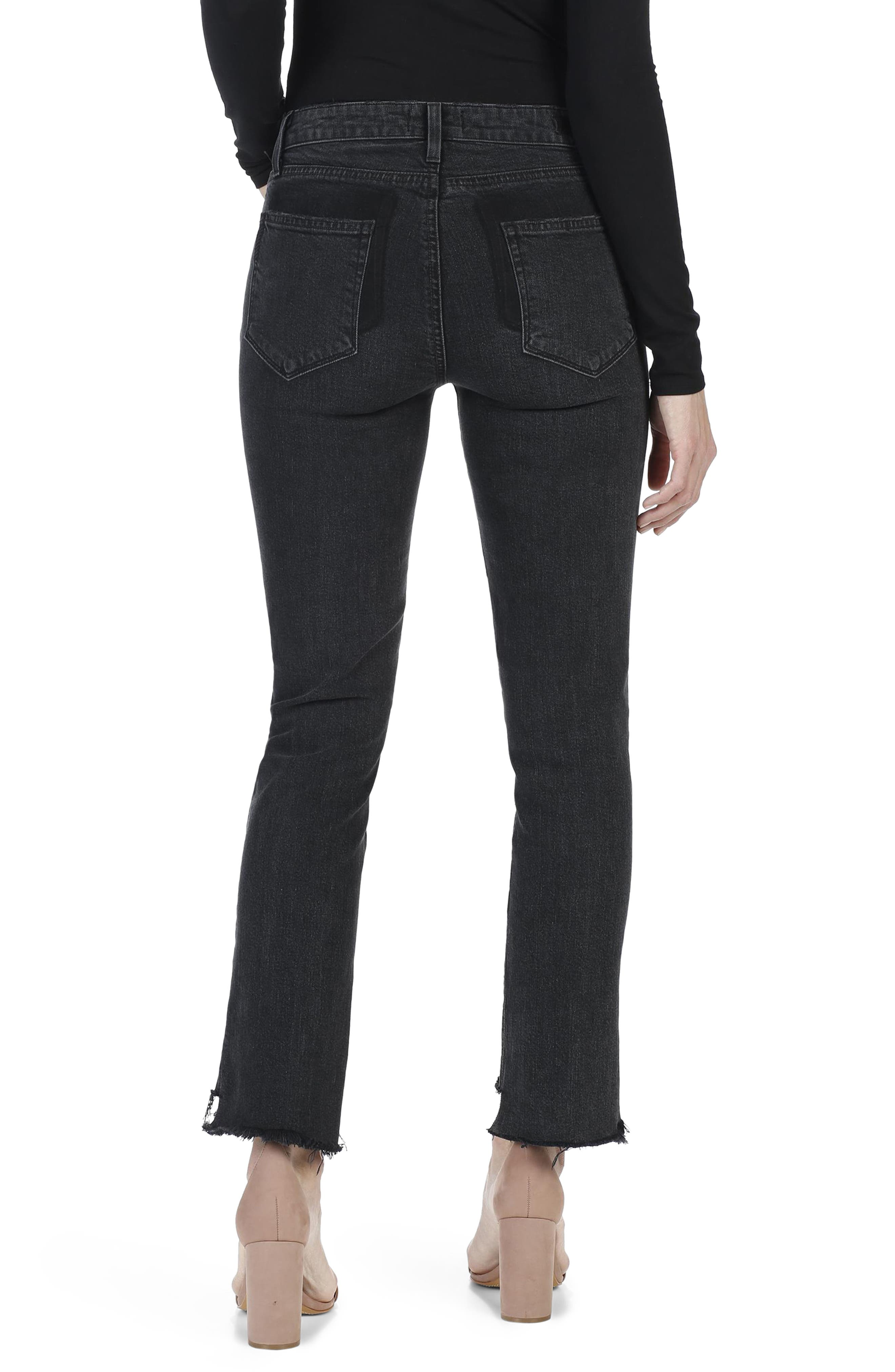 Alternate Image 2  - PAIGE Vintage Julia High Waist Ankle Straight Leg Jeans (Ranger)