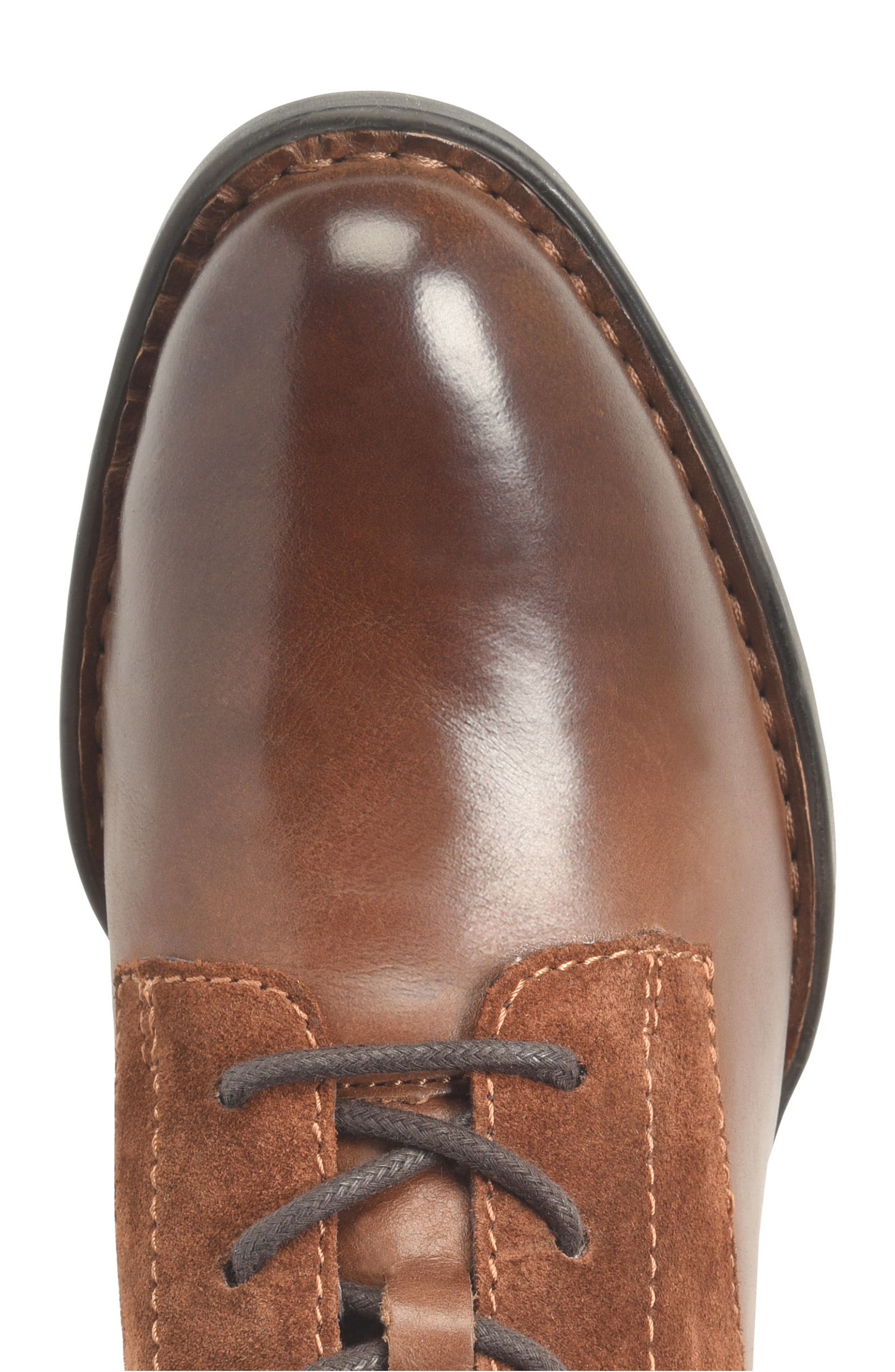 Clements Lace-Up Boot,                             Alternate thumbnail 5, color,                             Brown/ Rust Combo