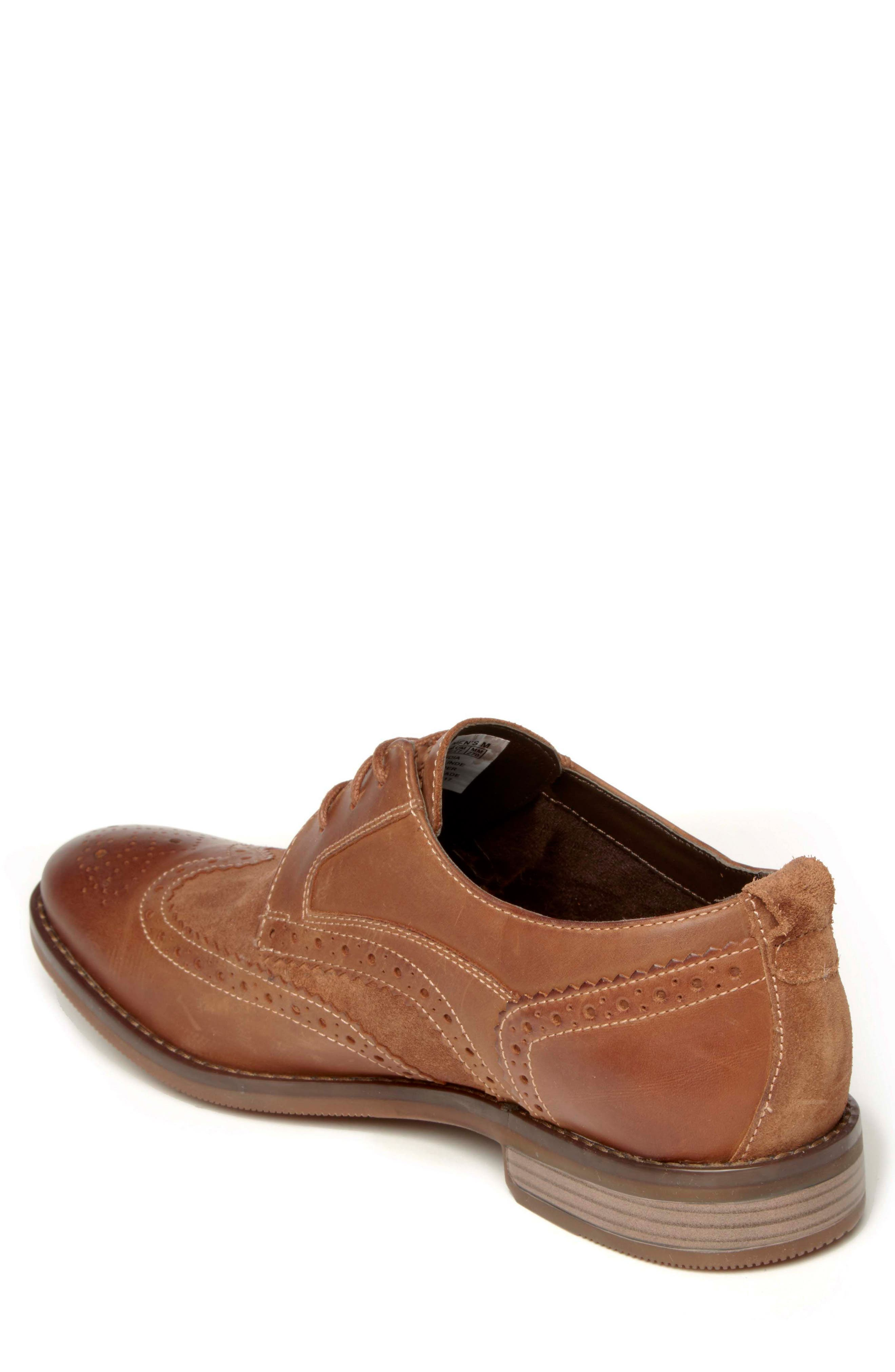 Wynstin Wingtip,                             Alternate thumbnail 2, color,                             Tobacco Leather/ Suede
