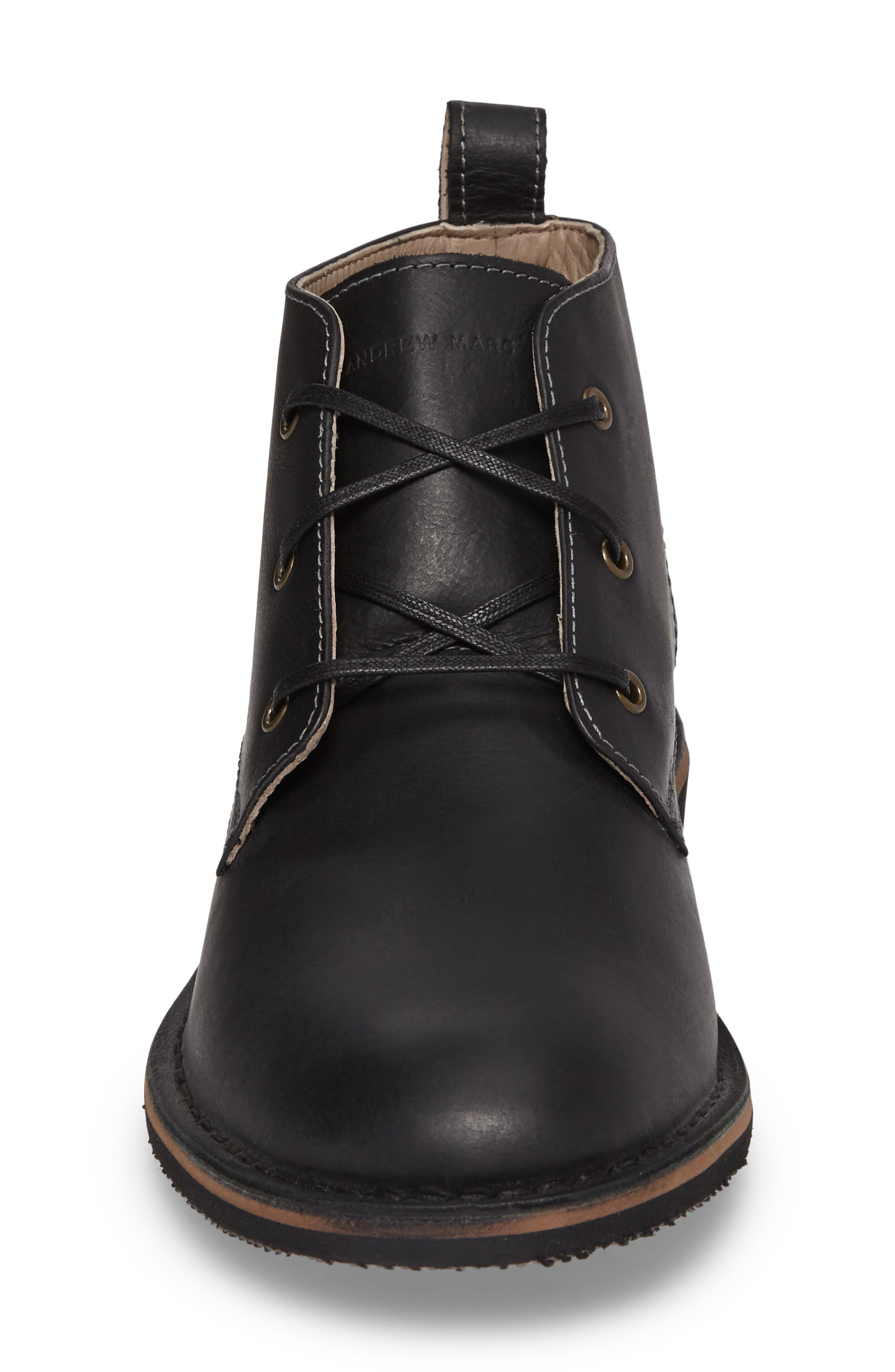 Dorchester Chukka Boot,                             Alternate thumbnail 4, color,                             Black Leather