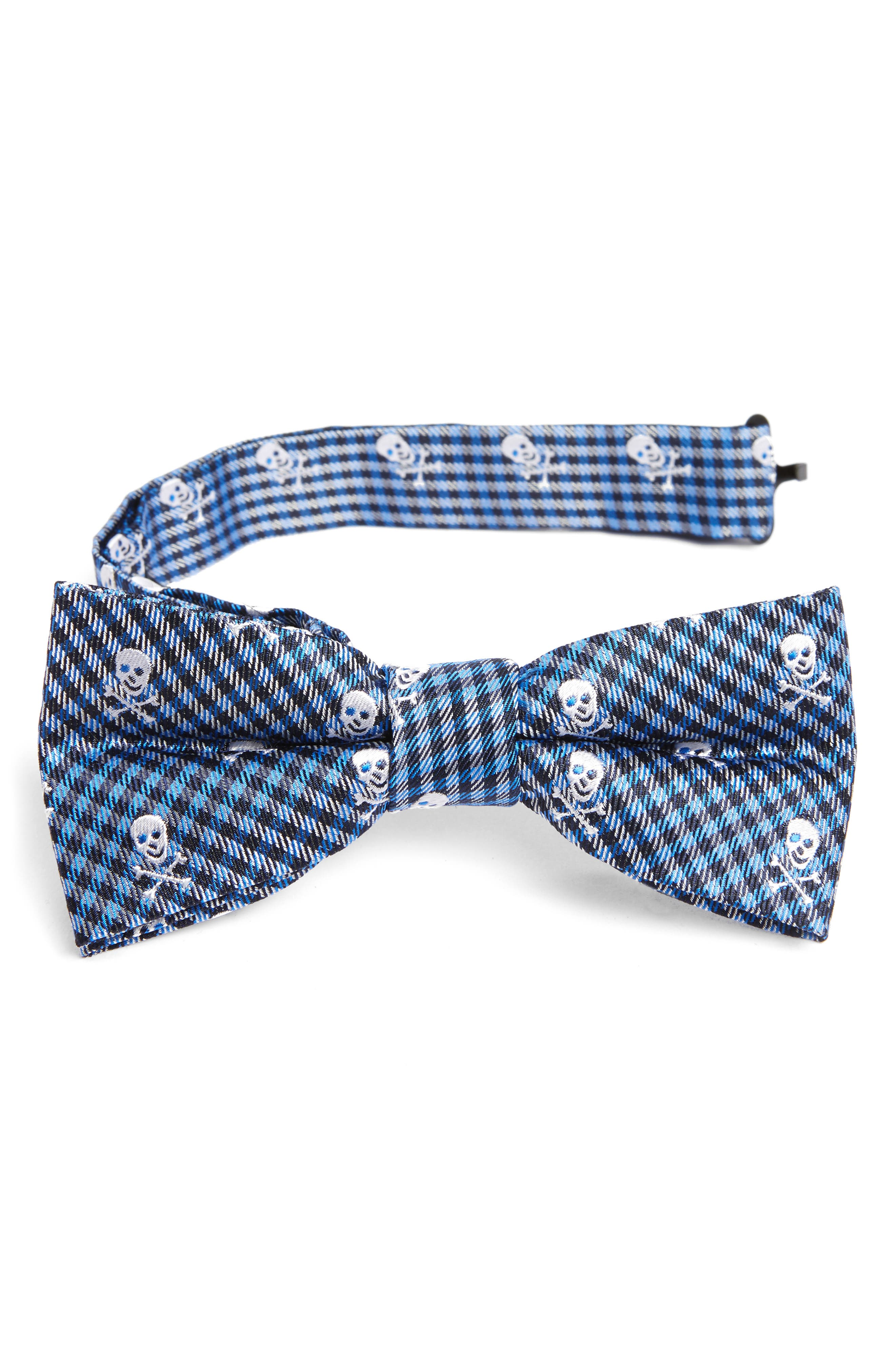 Main Image - Nordstrom Skulls Silk Bow Tie (Big Boys)