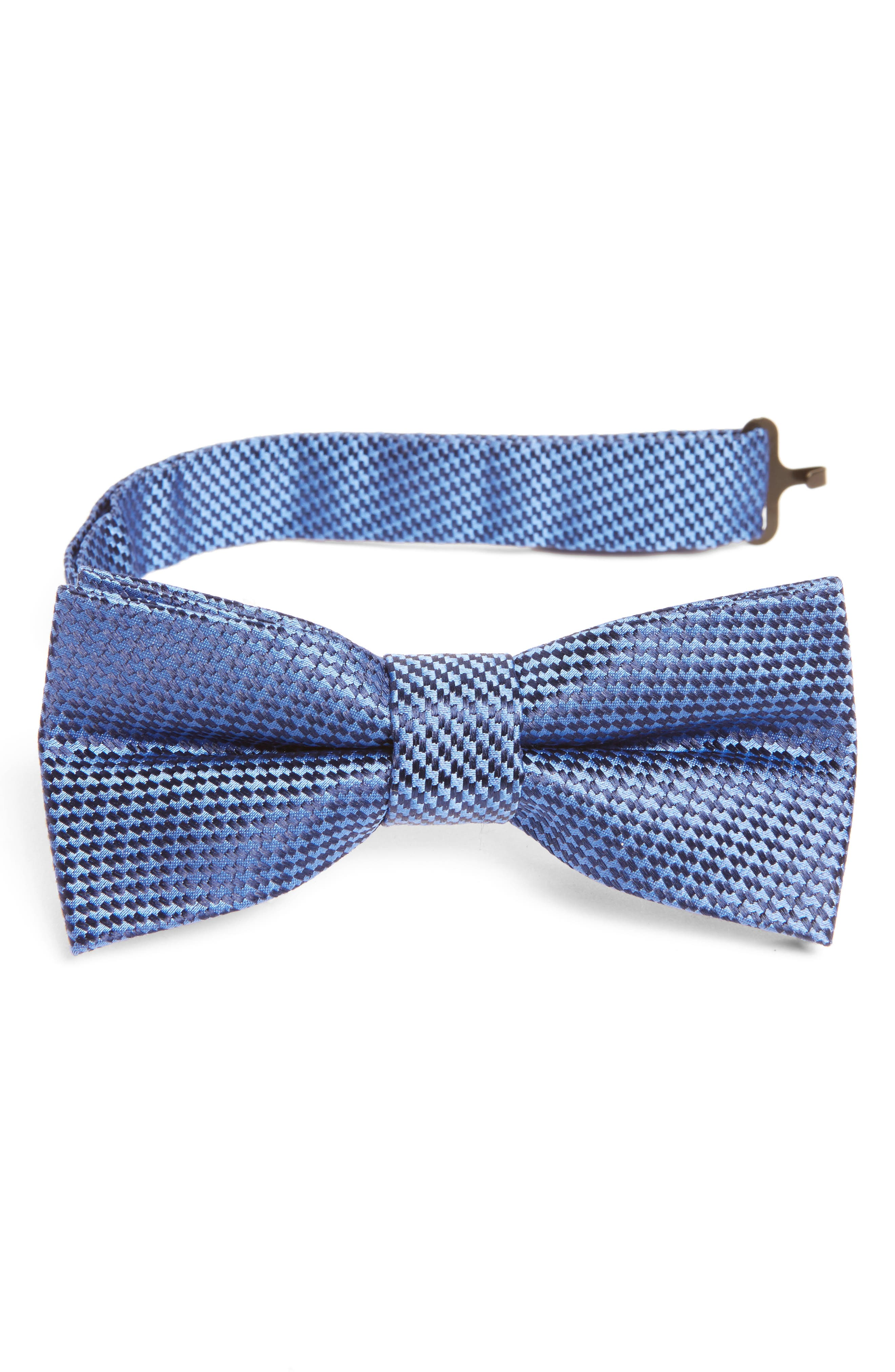 Solid Silk Bow Tie,                         Main,                         color, Royal