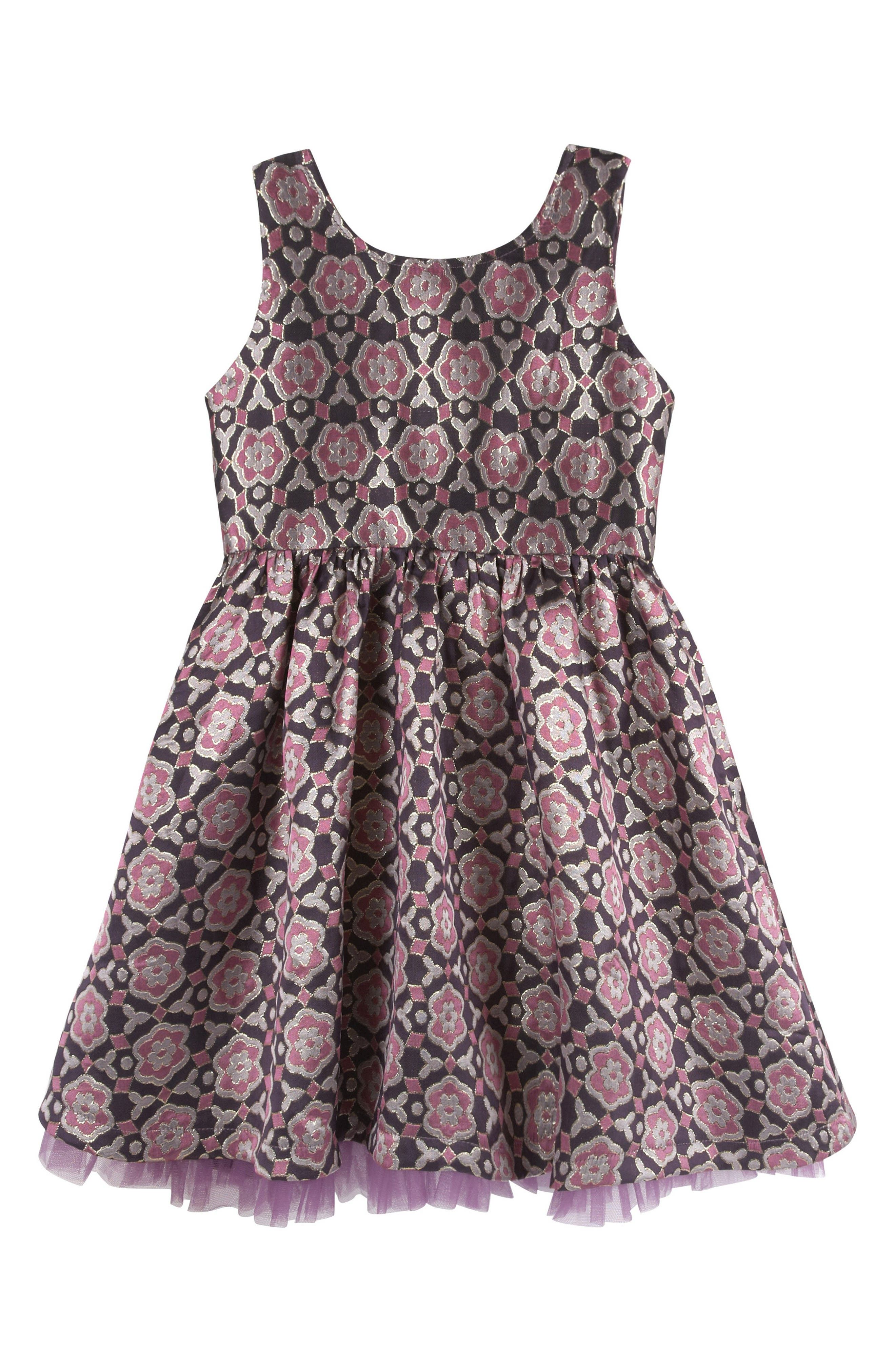 Andy & Evan Brocade Party Dress (Baby Girls)