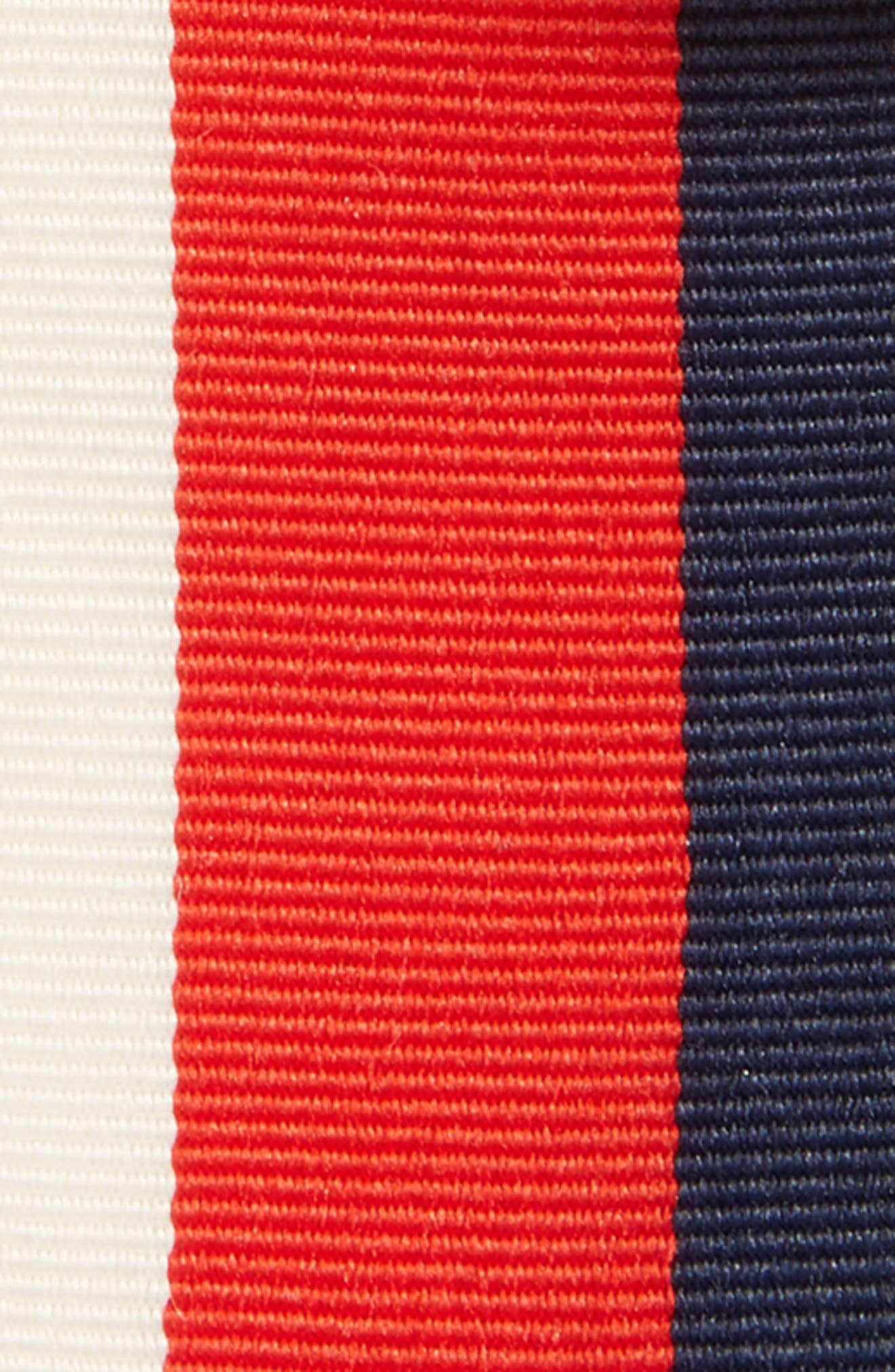 Stripe Crystal Ribbon Pin,                             Alternate thumbnail 3, color,                             Navy/ Red/ Ivory