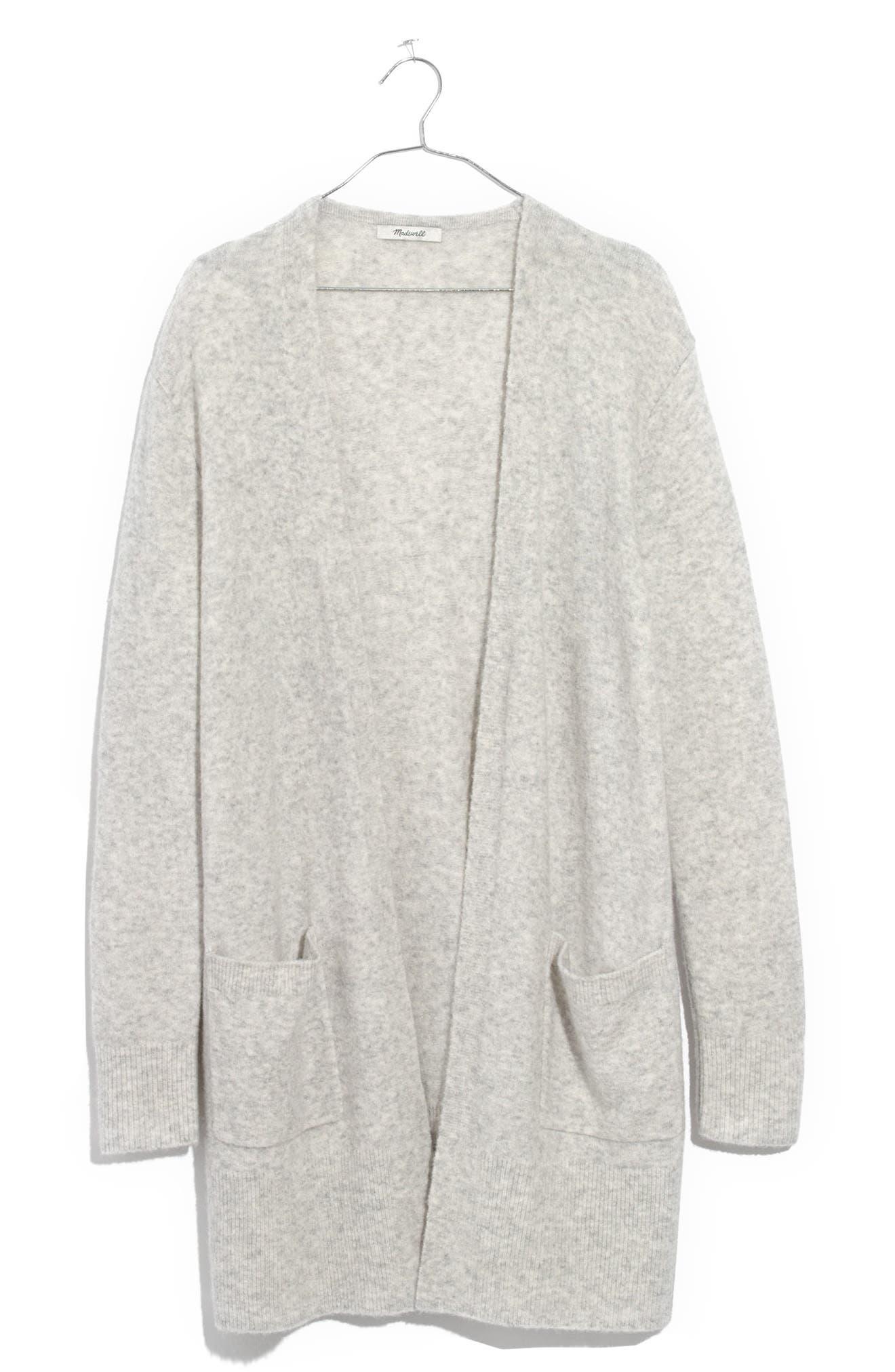 Kent Cardigan Sweater,                         Main,                         color, Heather Fog