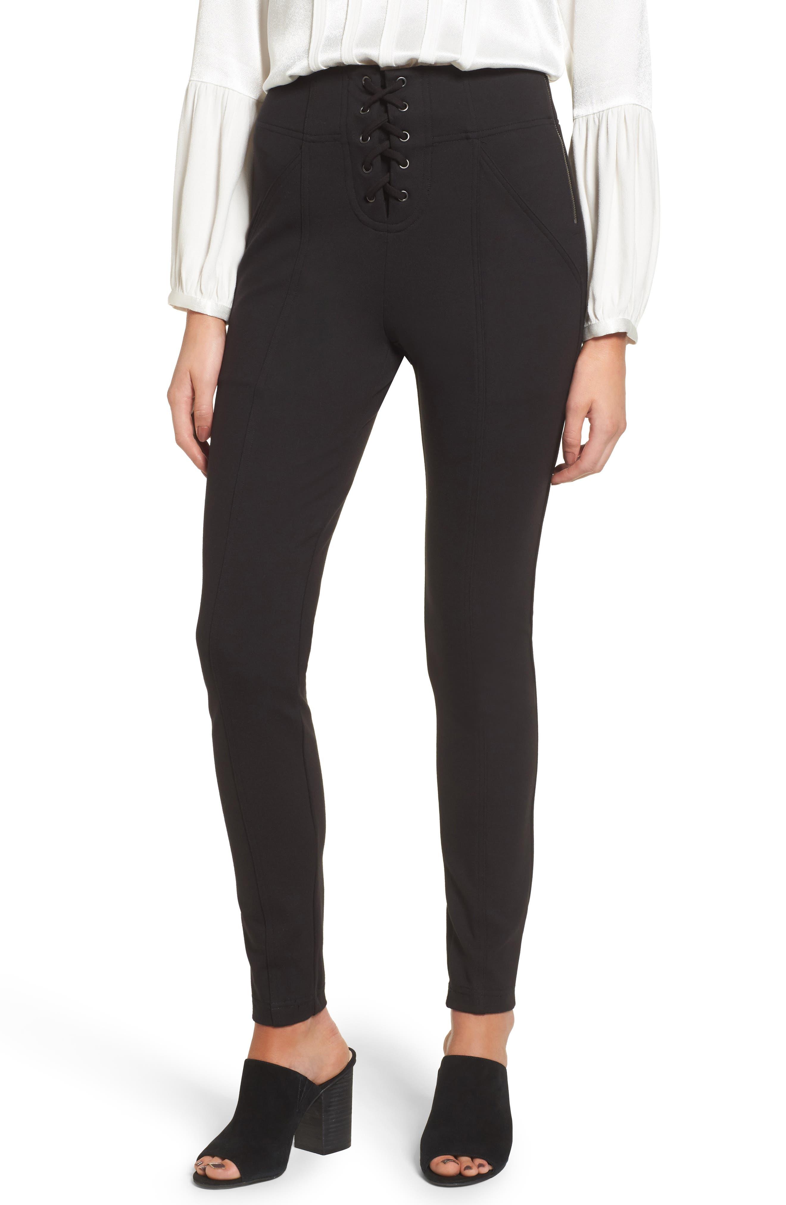 Ella Moss Lace-Up Skinny Pants