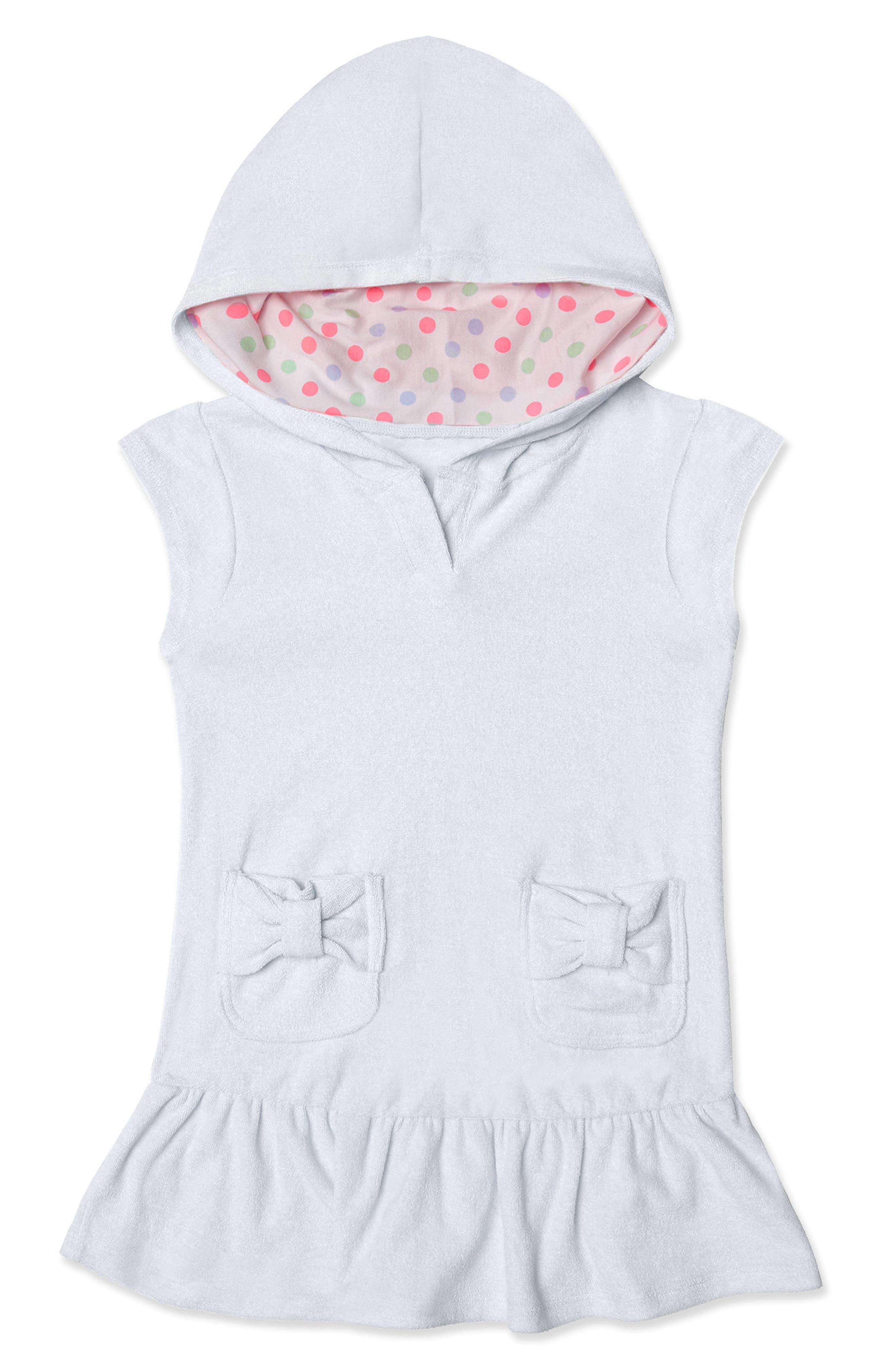 Hula Star Cotton Cloud Hooded Cover-Up Dress (Toddler Girls & Little Girls)