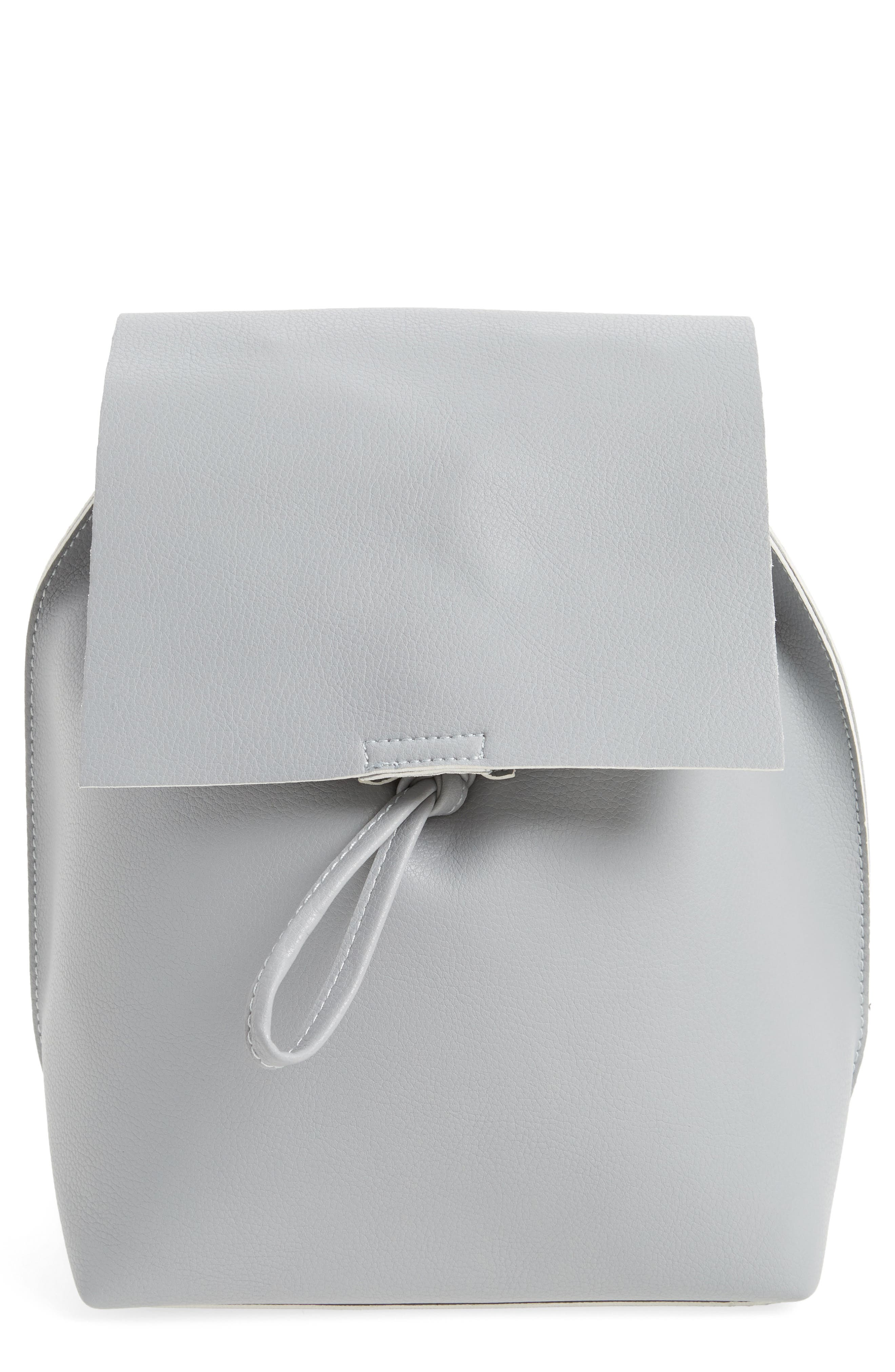 Street Level Faux Leather Backpack