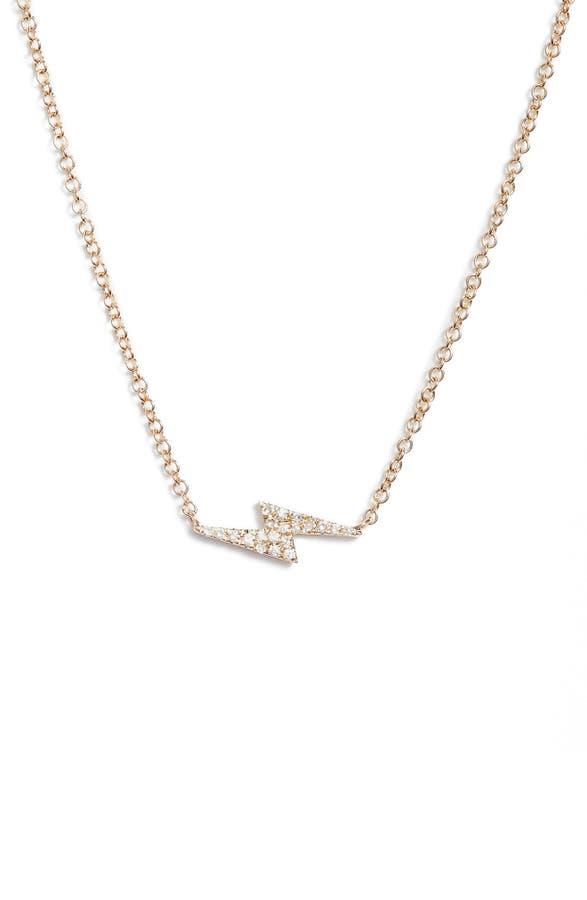 Ef collection diamond lightning bolt pendant necklace nordstrom main image ef collection diamond lightning bolt pendant necklace mozeypictures Choice Image