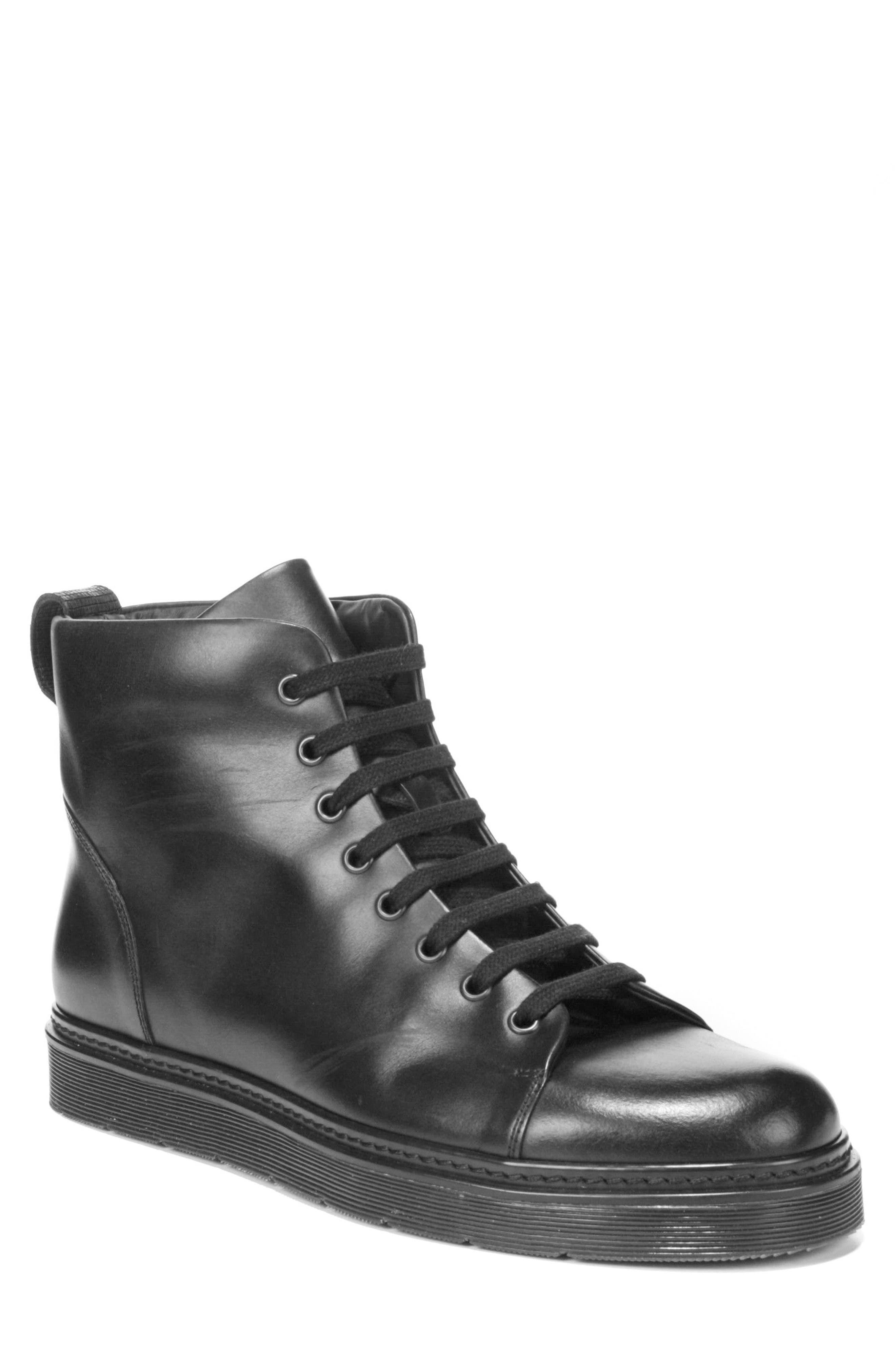 Malone Plain Toe Boot,                             Main thumbnail 1, color,                             Black