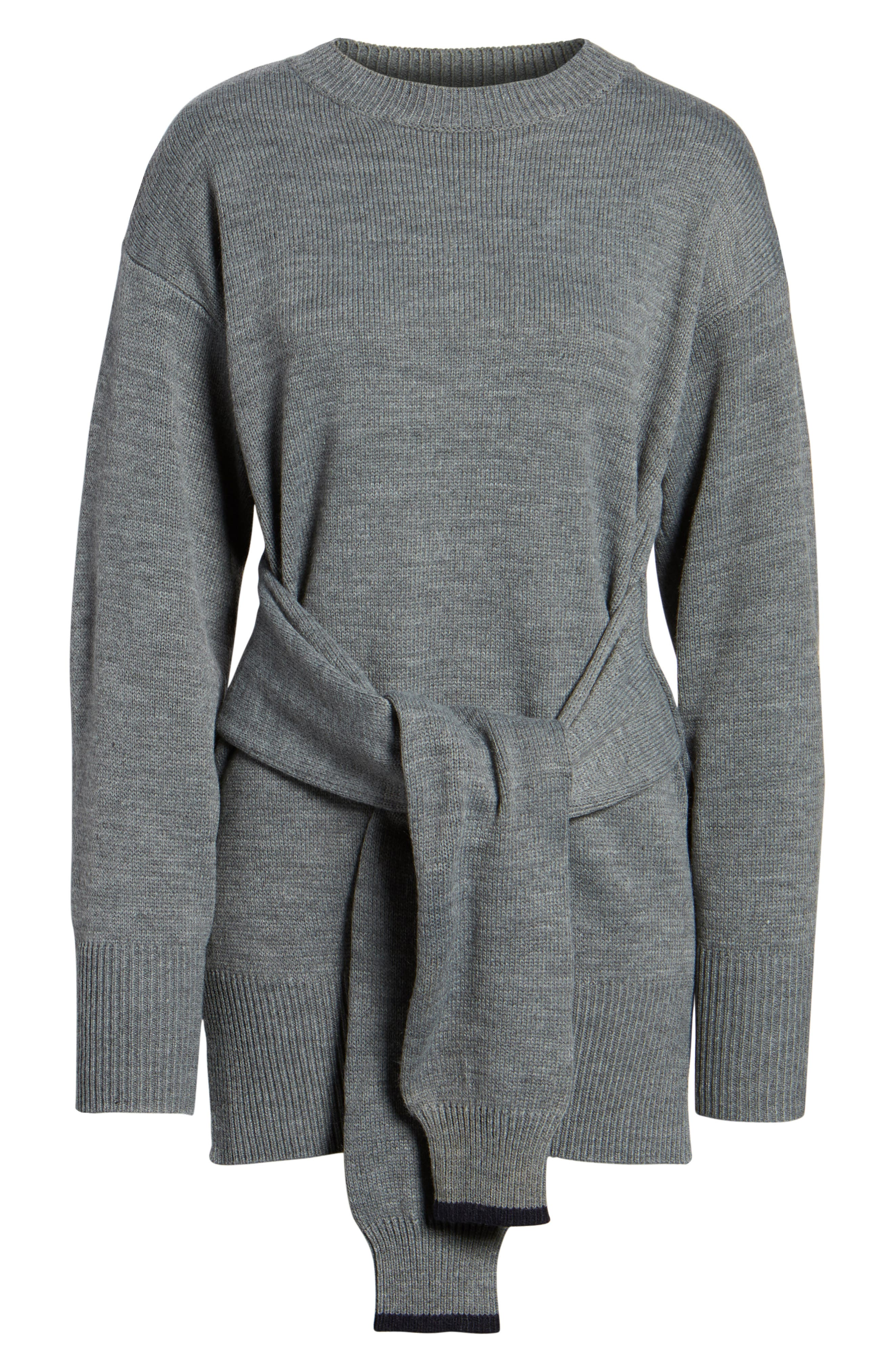 Alternate Image 6  - J.O.A. Tie Front Sweater