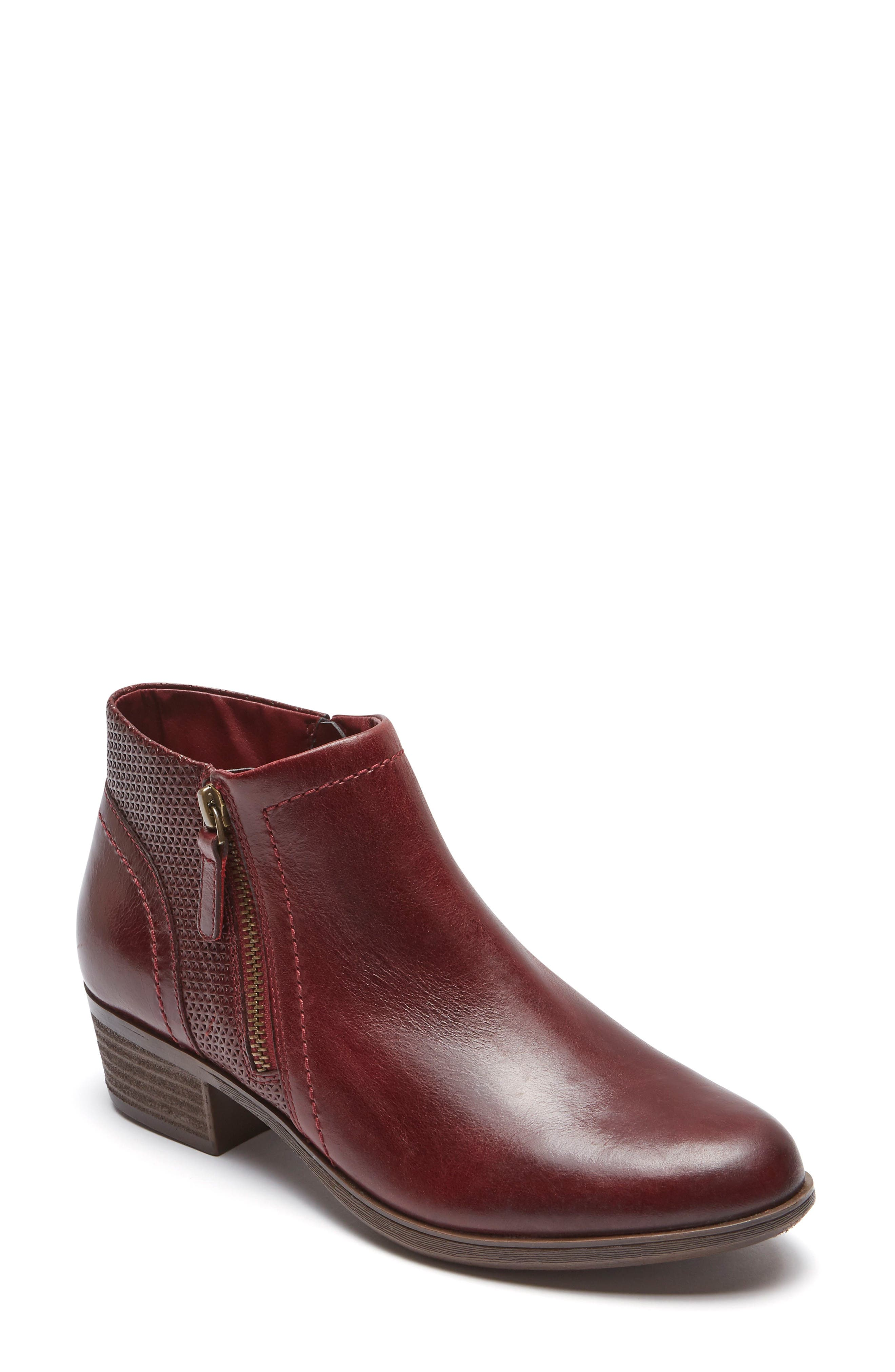 Oliana Bootie,                         Main,                         color, Inferno Leather
