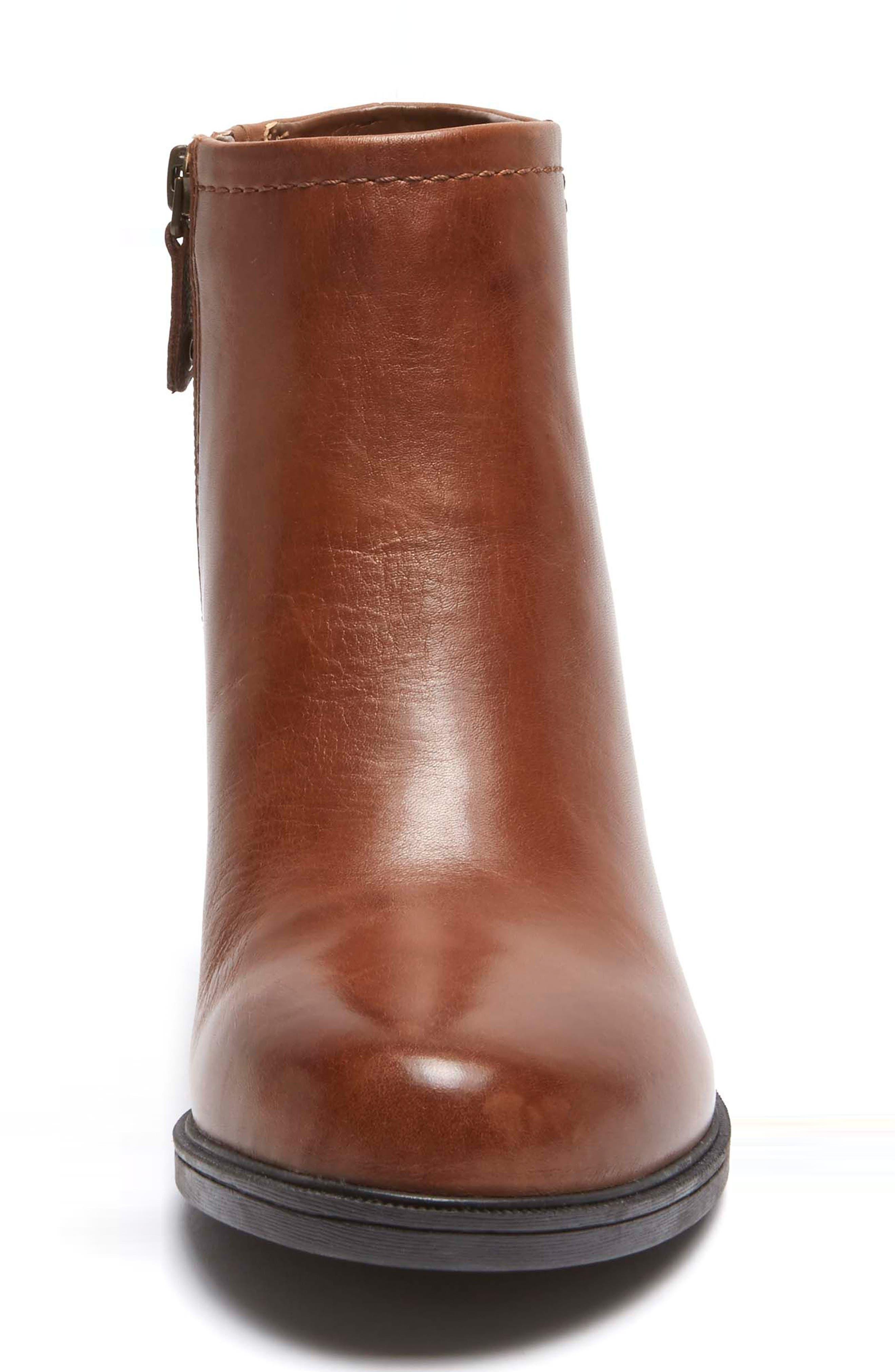 Natashya Bootie,                             Alternate thumbnail 4, color,                             Almond Leather
