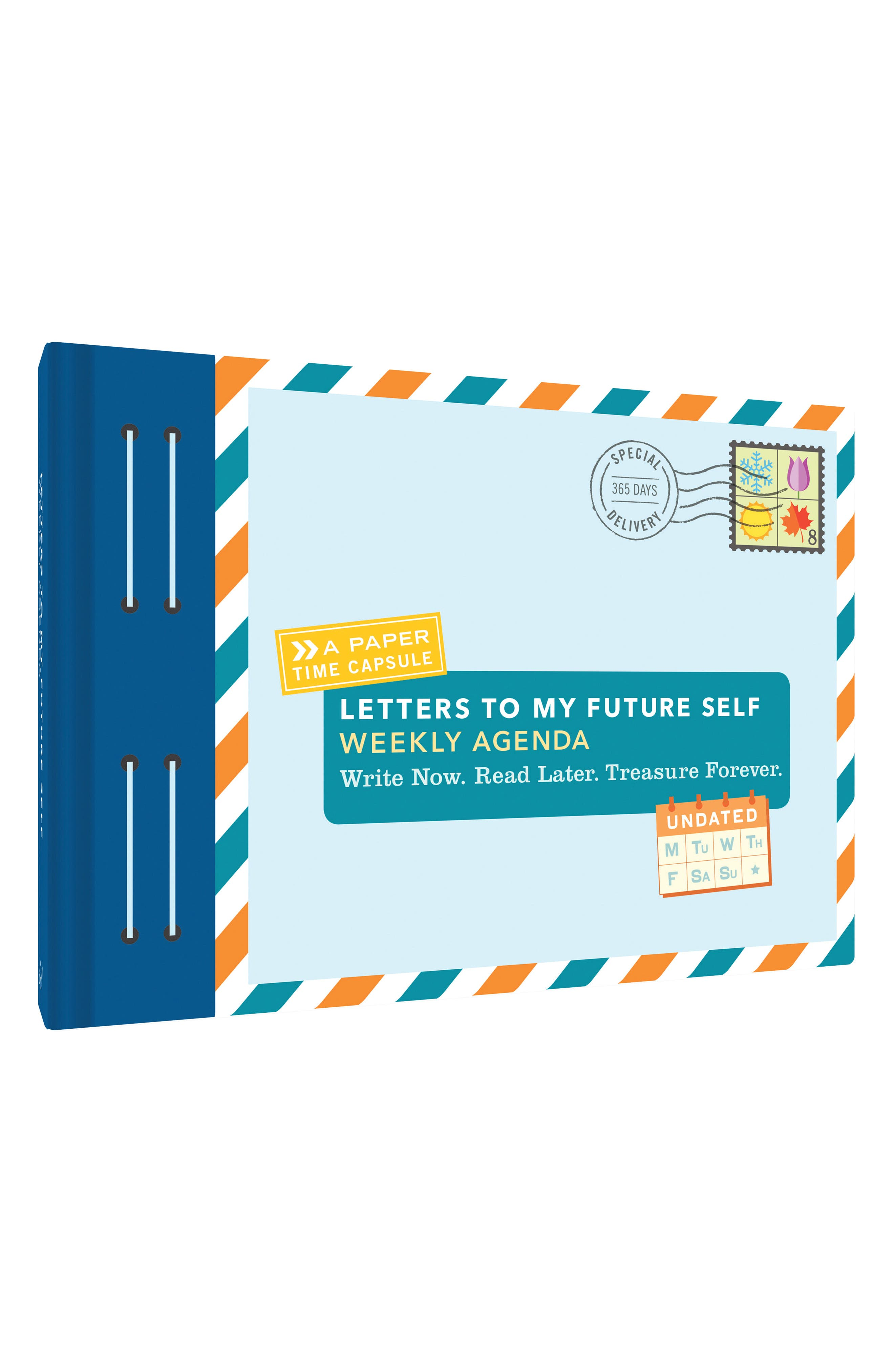 Letters to My Future Self Weekly Agenda,                         Main,                         color, Blue