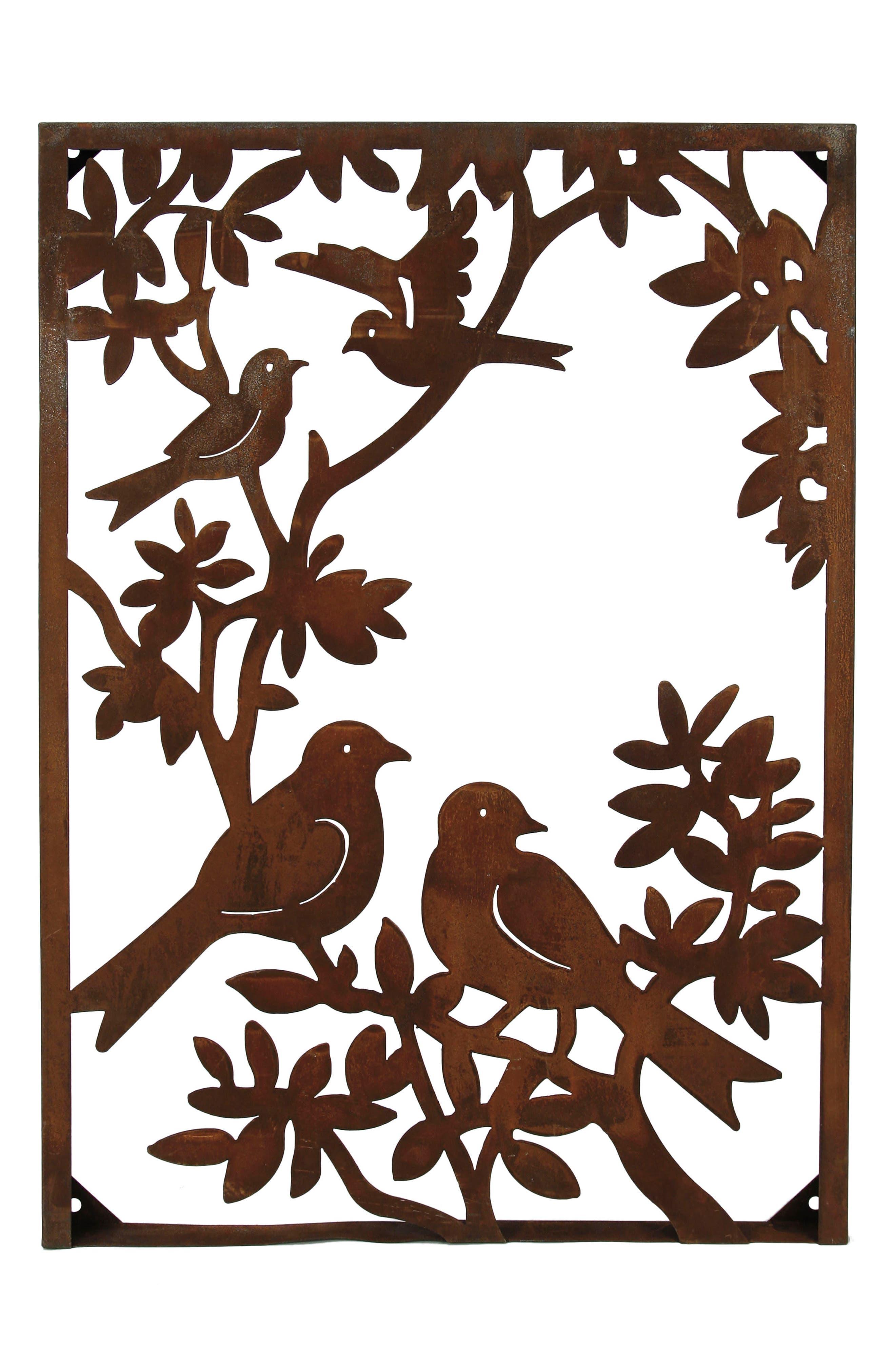 Birds Metal Wall Art,                         Main,                         color, Metal