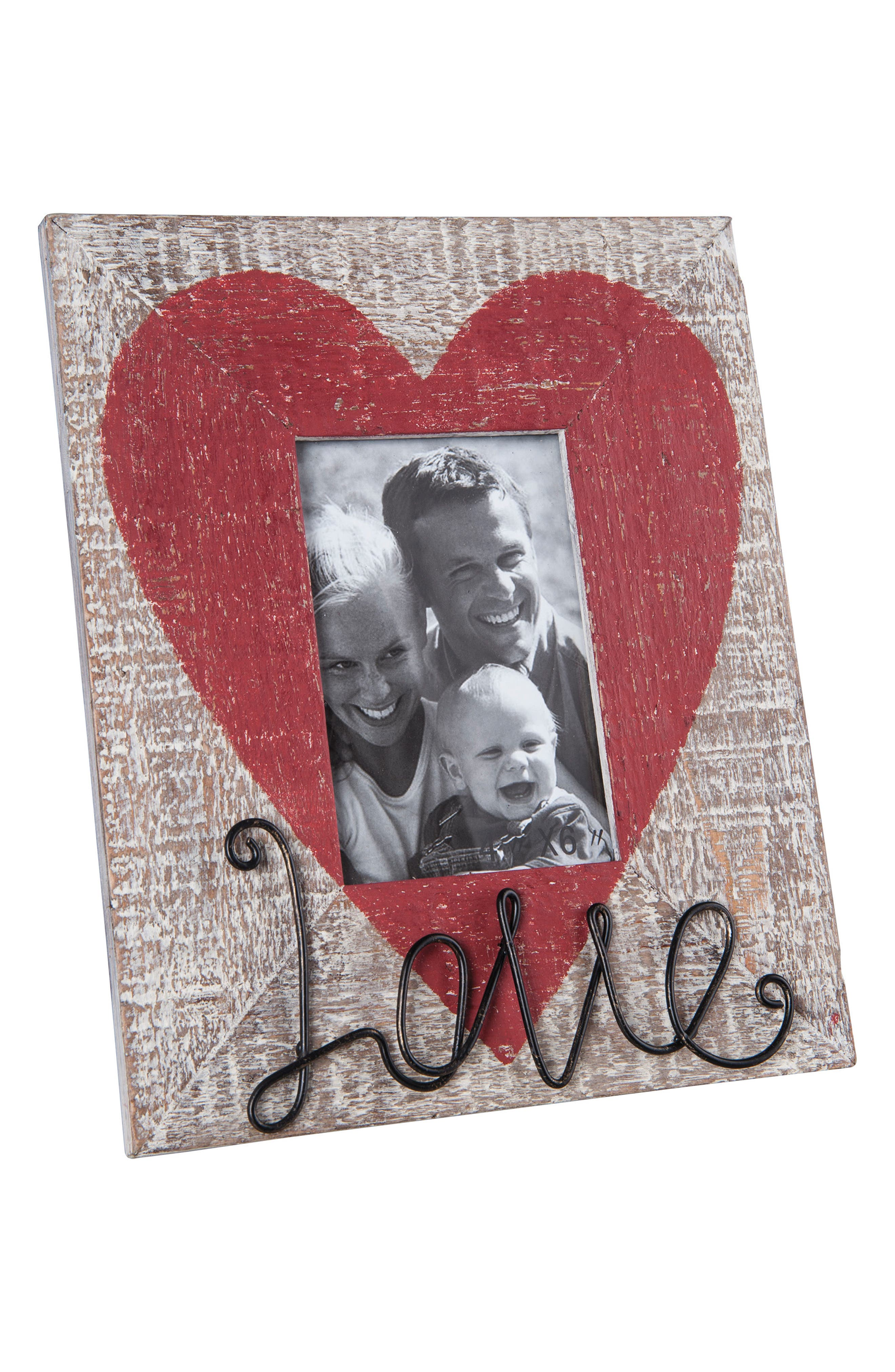 Love Picture Frame,                             Main thumbnail 1, color,                             Wood/ Metal/ Glass