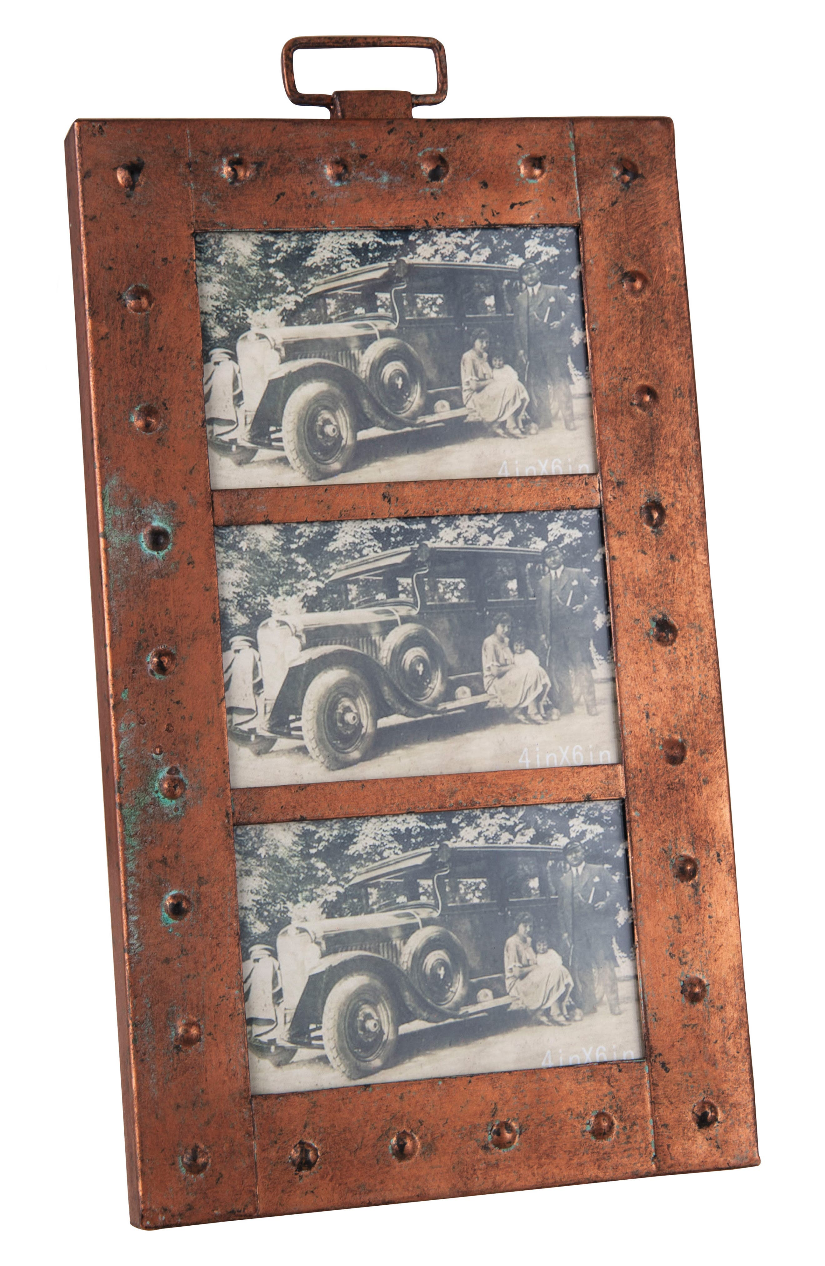 Aviator Triple Picture Frame,                         Main,                         color, Metal/ Glass