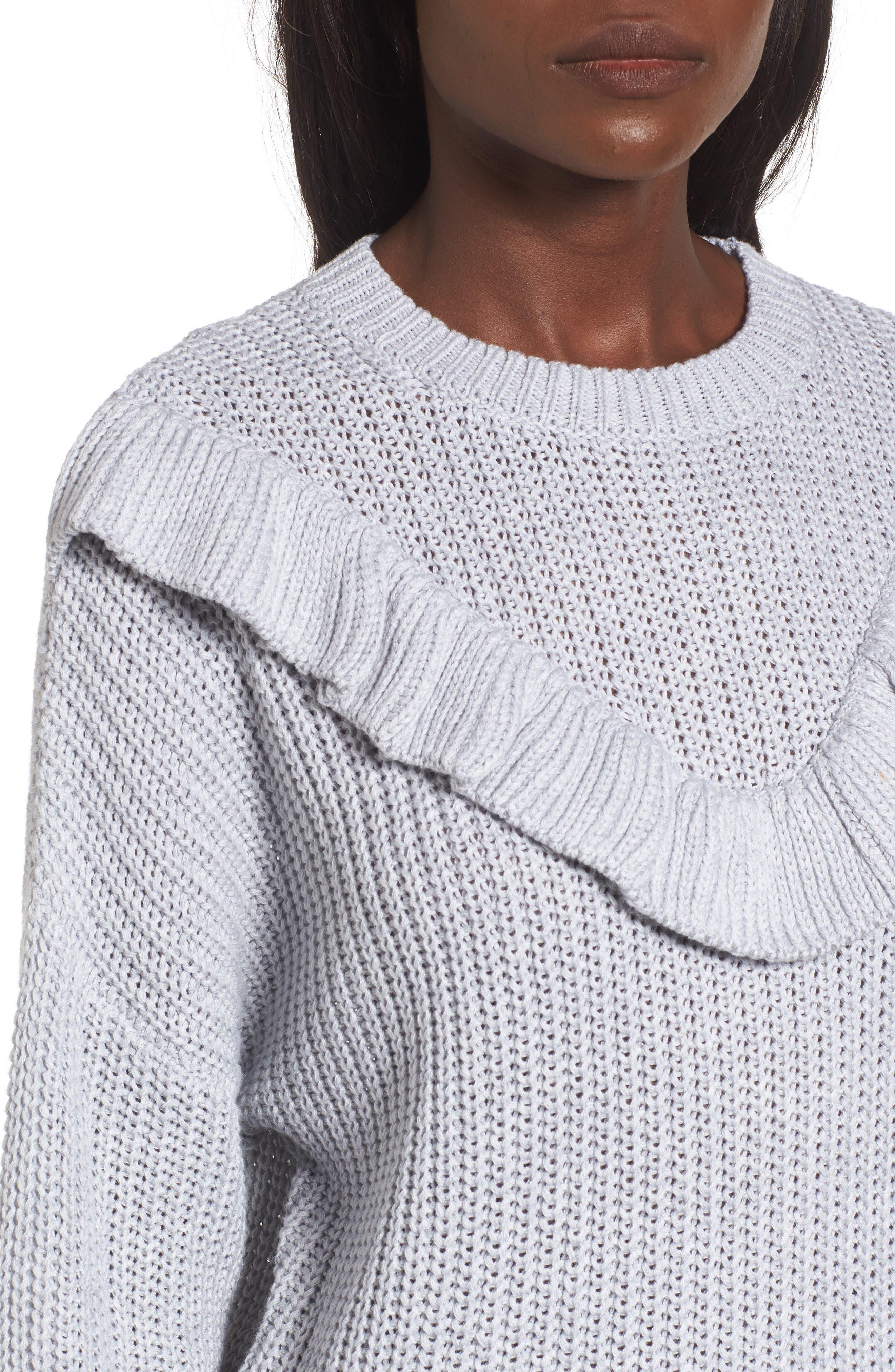 Alternate Image 4  - BLANKNYC Ruffle Yoke Sweater