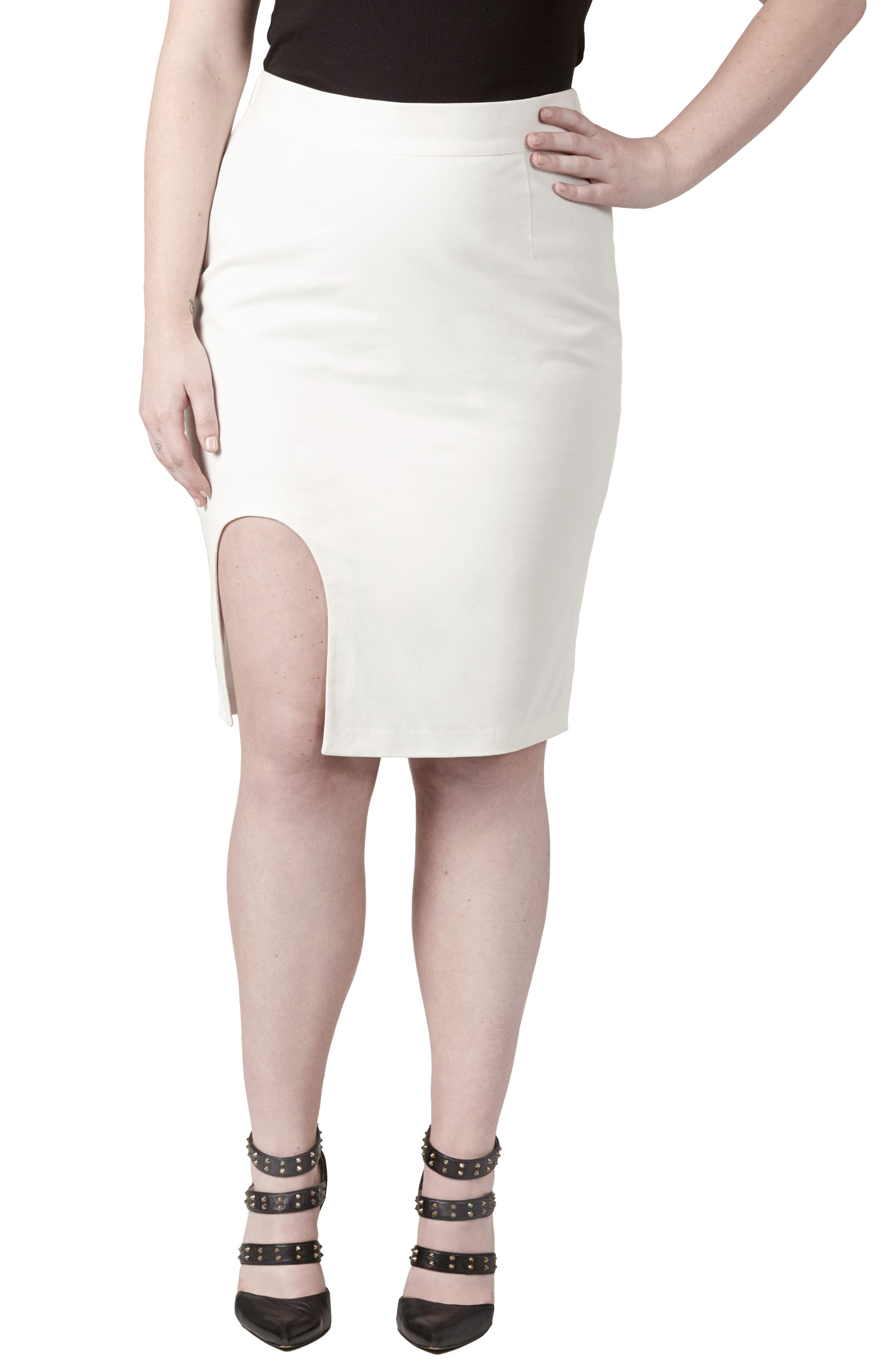 UNIVERSAL STANDARD Unity Cutout Skirt (Plus Size)